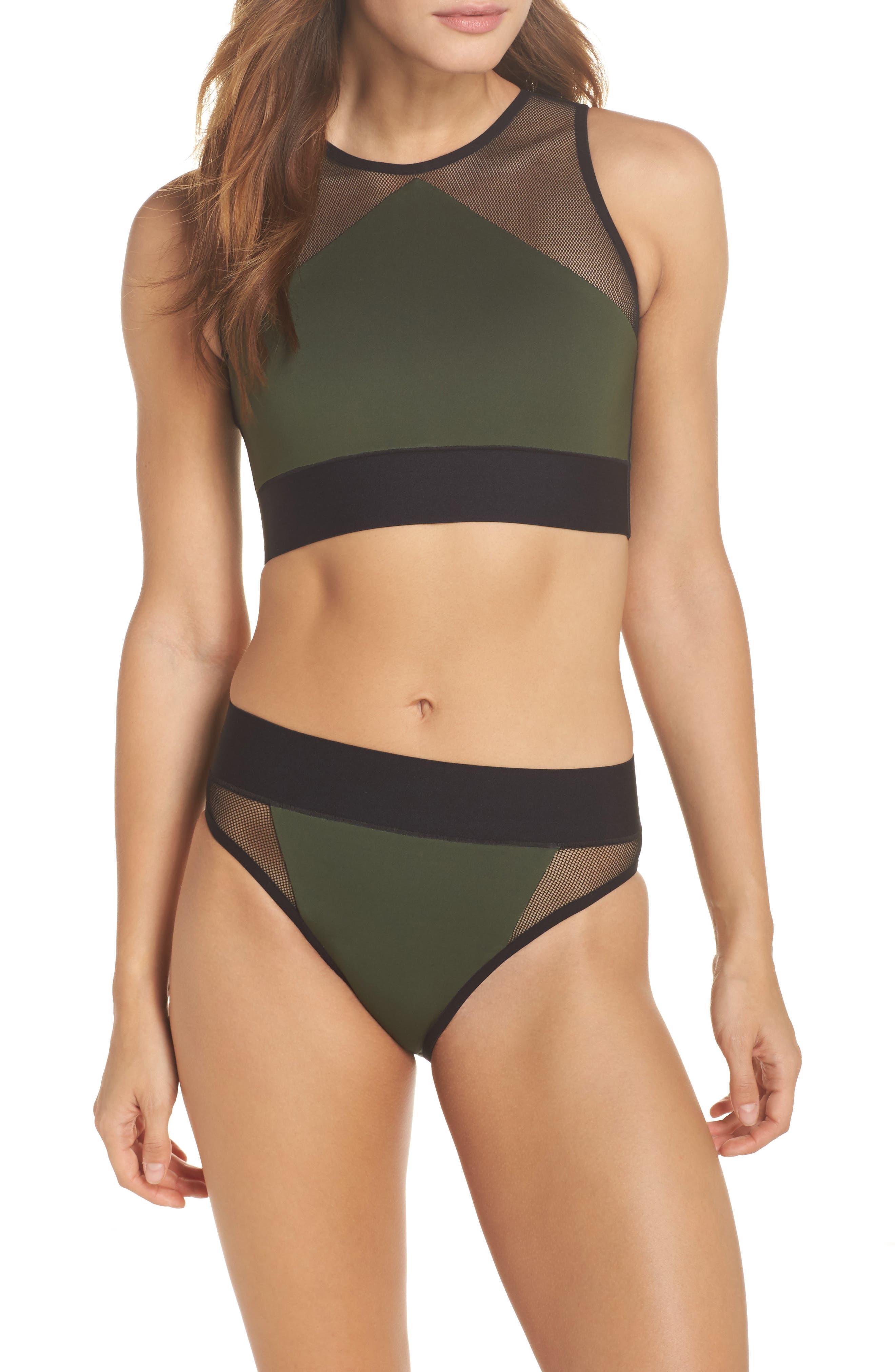 Adrift Sport Mesh Bikini Top,                             Alternate thumbnail 7, color,                             300