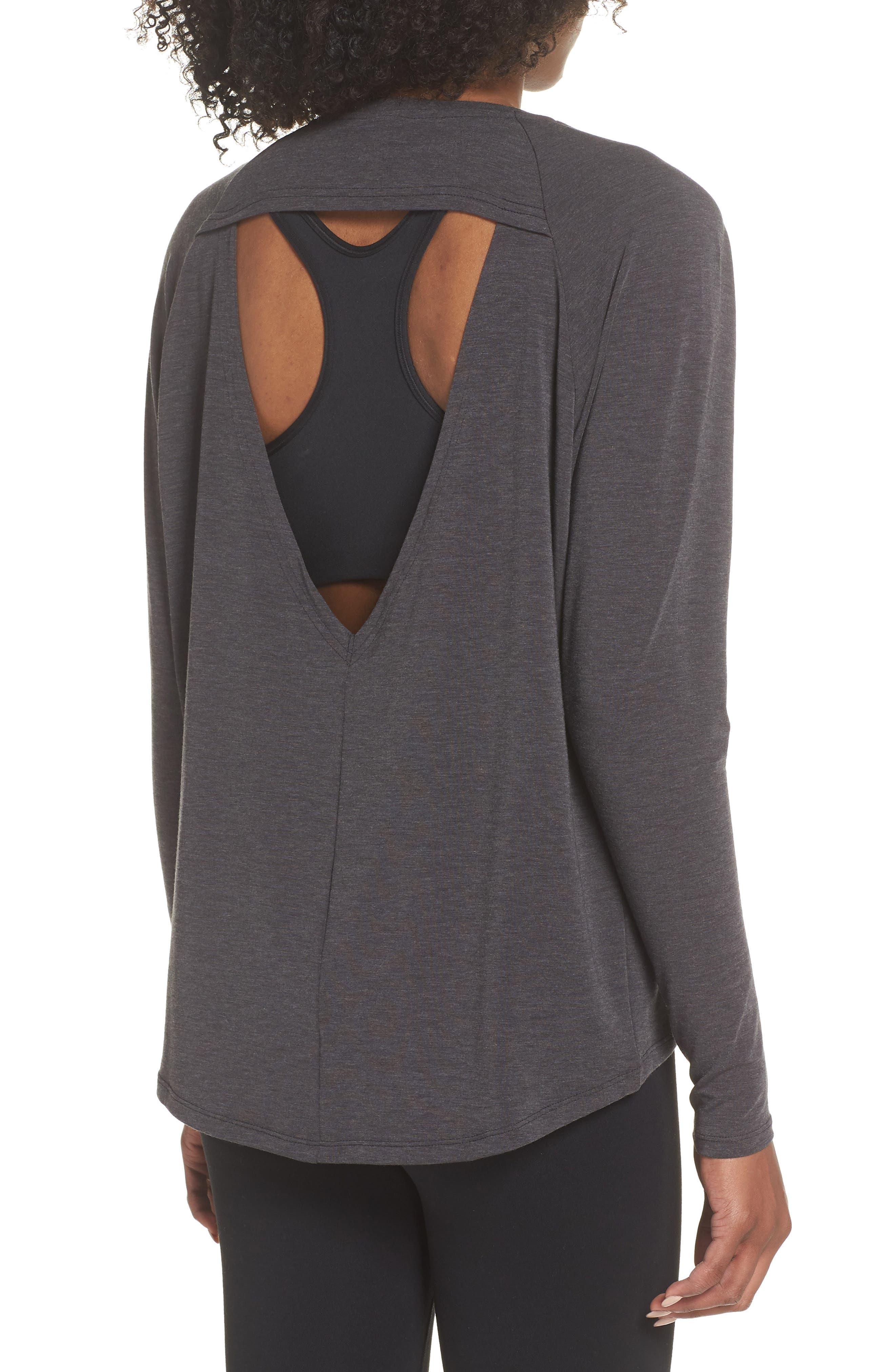 NEW BALANCE,                             Release Open Back Long Sleeve Sweatshirt,                             Alternate thumbnail 2, color,                             008