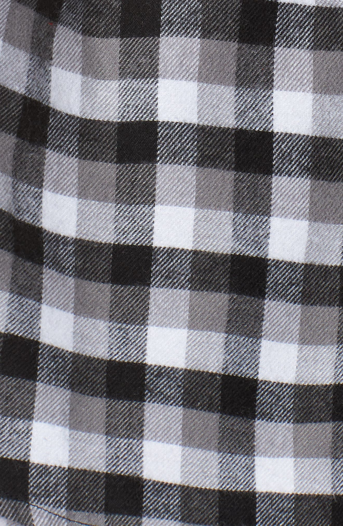 Flannel Girlfriend Pajamas,                             Alternate thumbnail 5, color,                             BLACK TRENDY PLAID