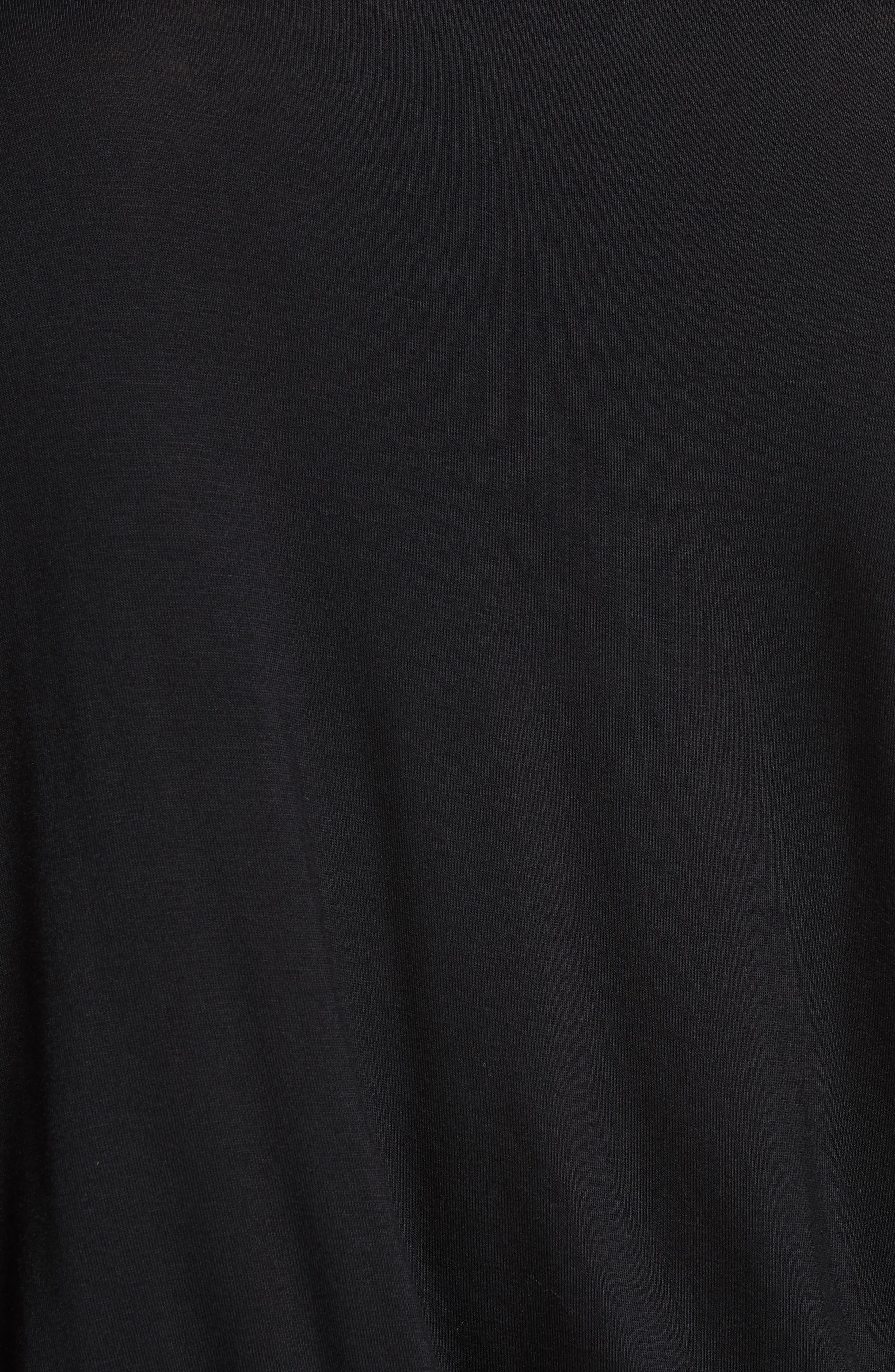 Manda Ruched Dress,                             Alternate thumbnail 5, color,                             BLACK