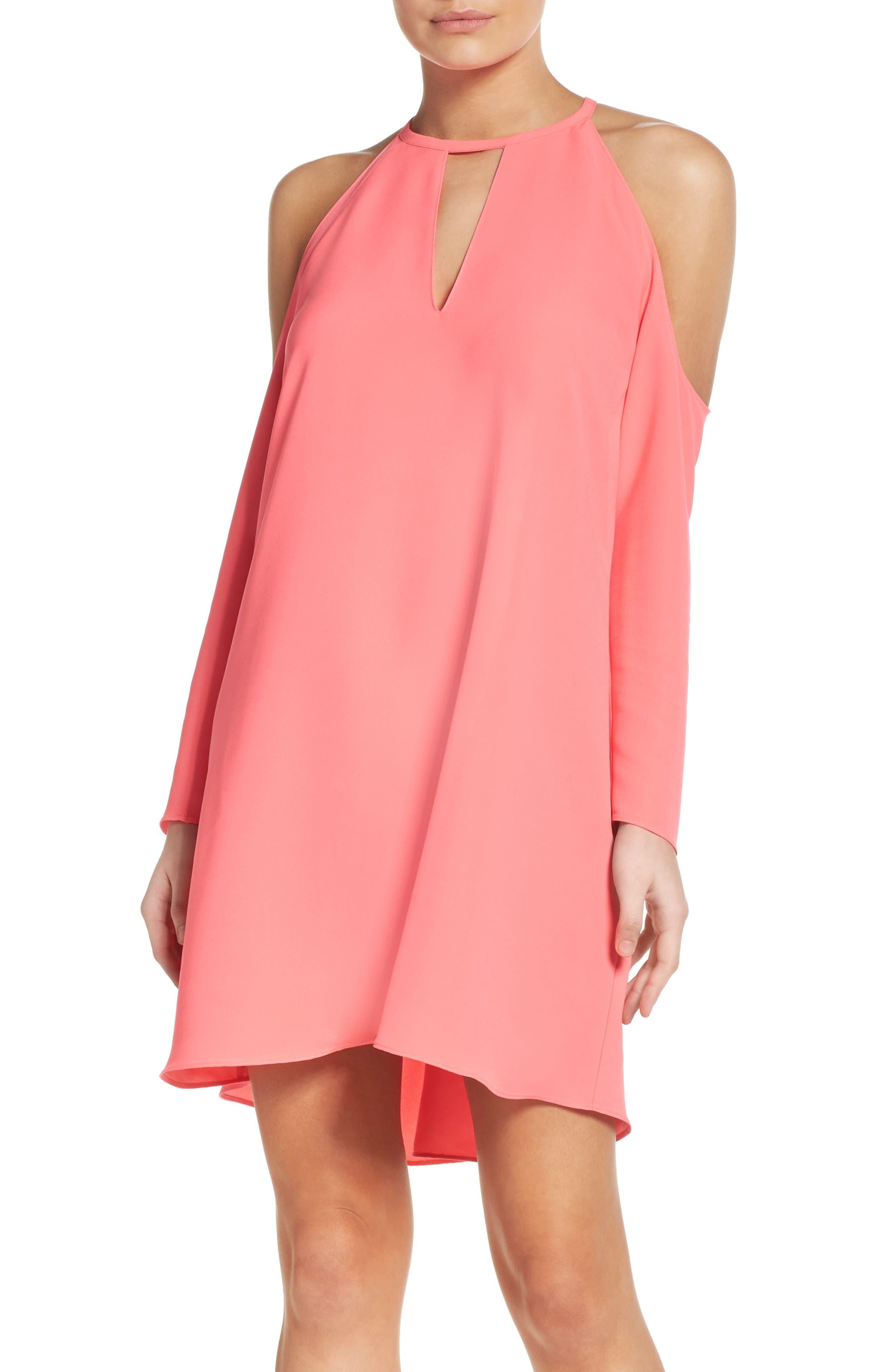 'Jasmine' Cold Shoulder Shift Dress,                         Main,                         color, 683