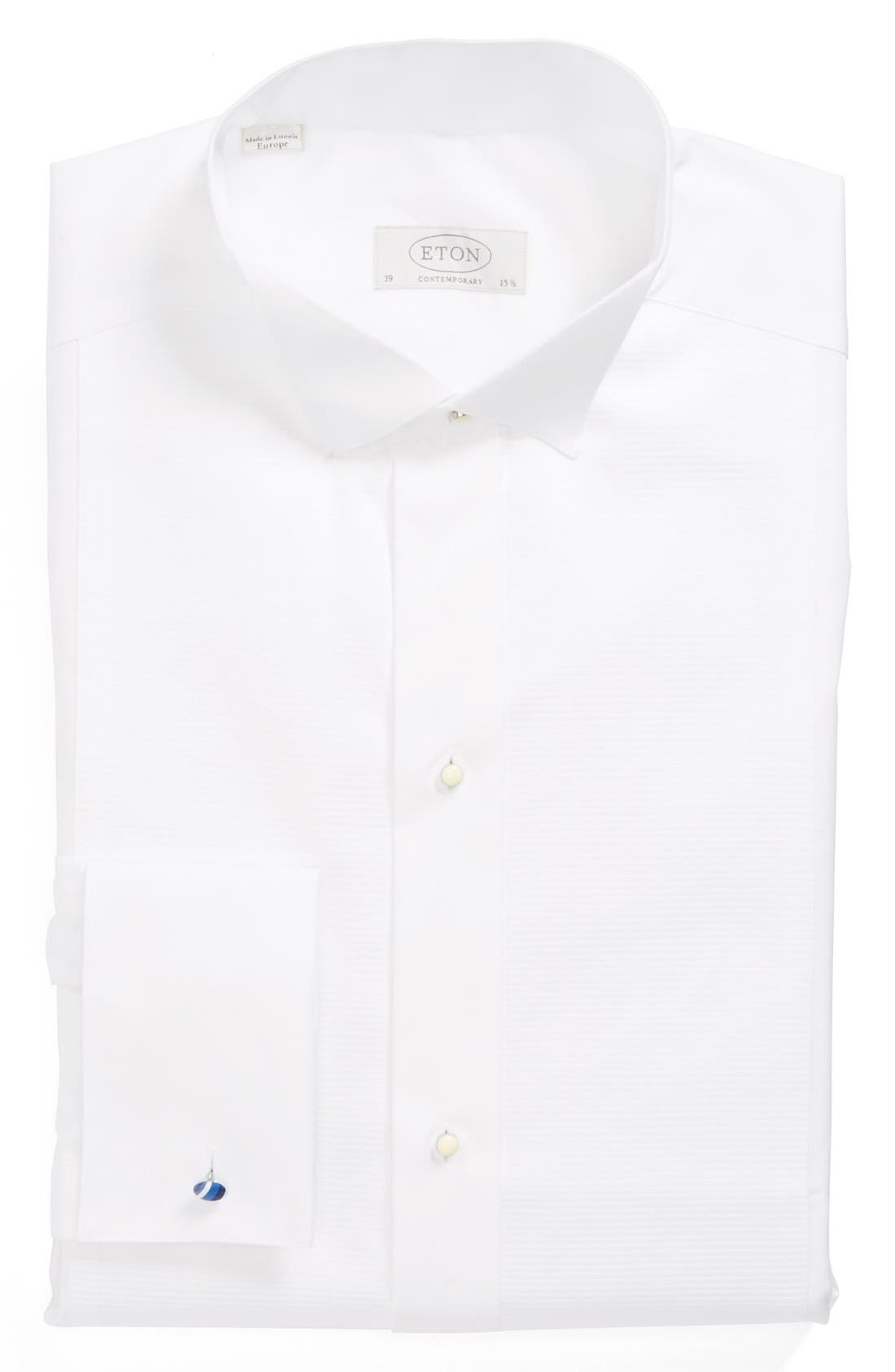 Contemporary Fit Dress Shirt,                             Main thumbnail 1, color,                             WHITE