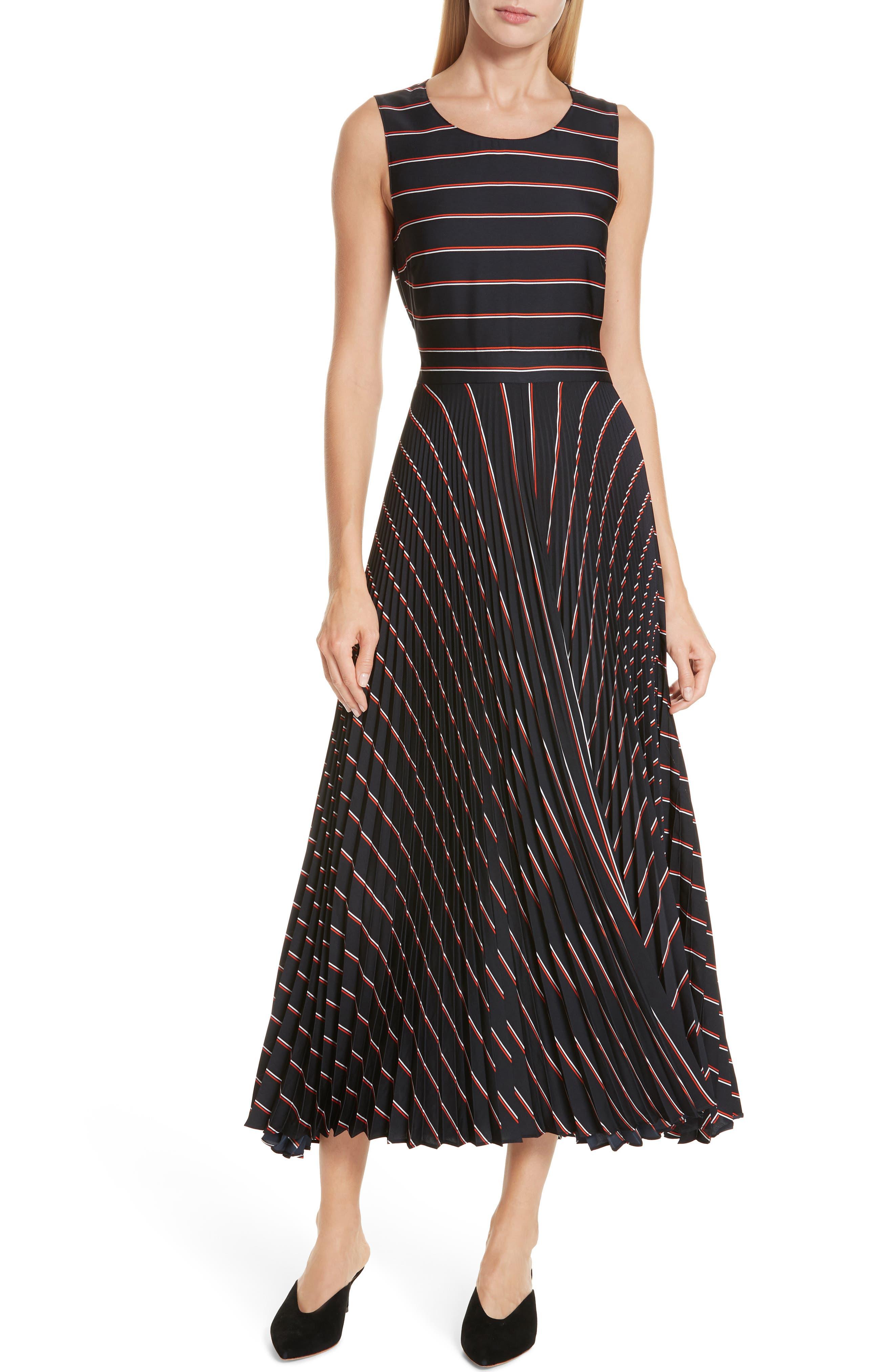 A.l.c. Halle Stripe Midi Dress, Blue