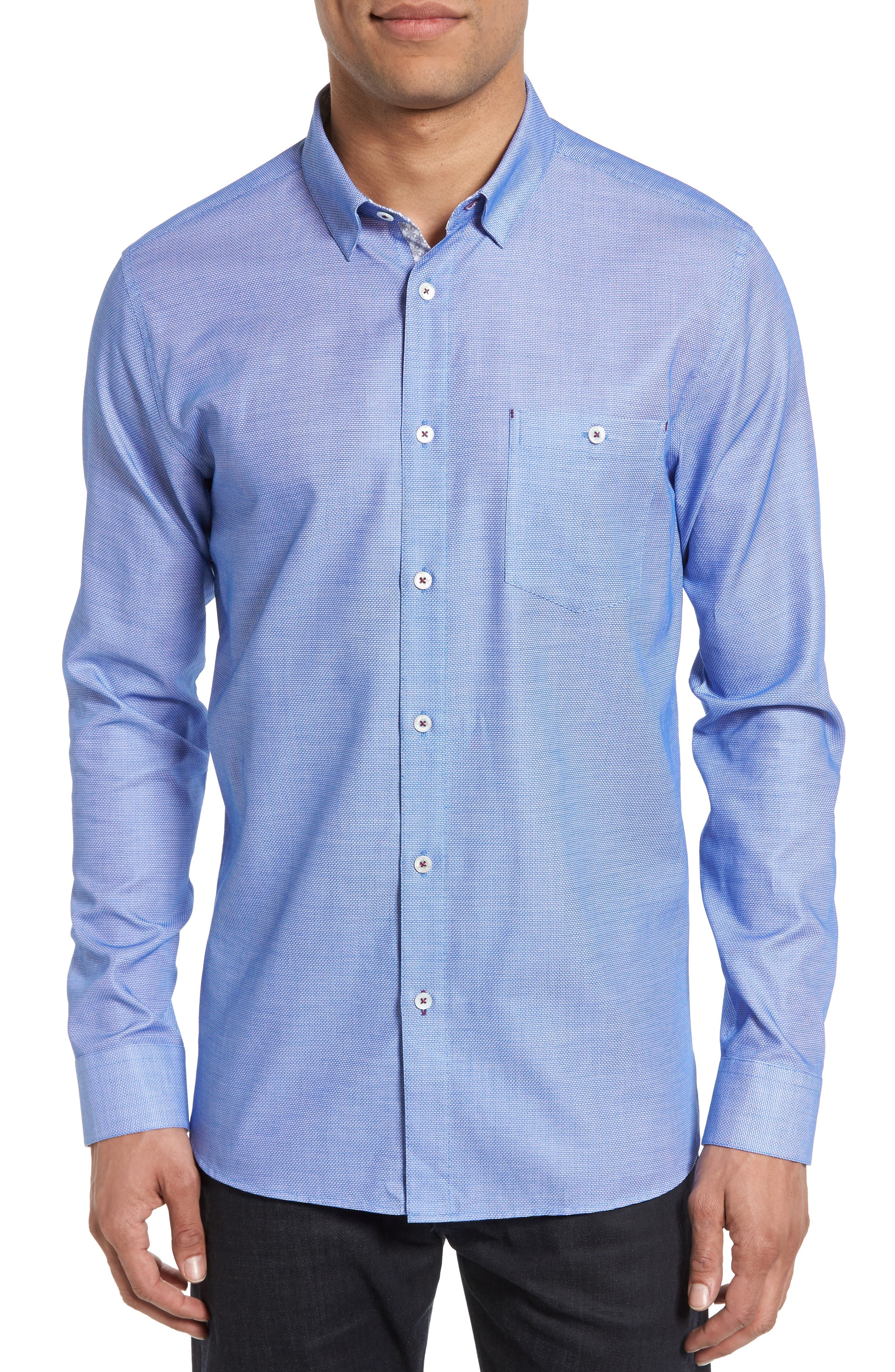 Nordlux Modern Slim Fit Stretch Cotton Sport Shirt,                             Main thumbnail 4, color,