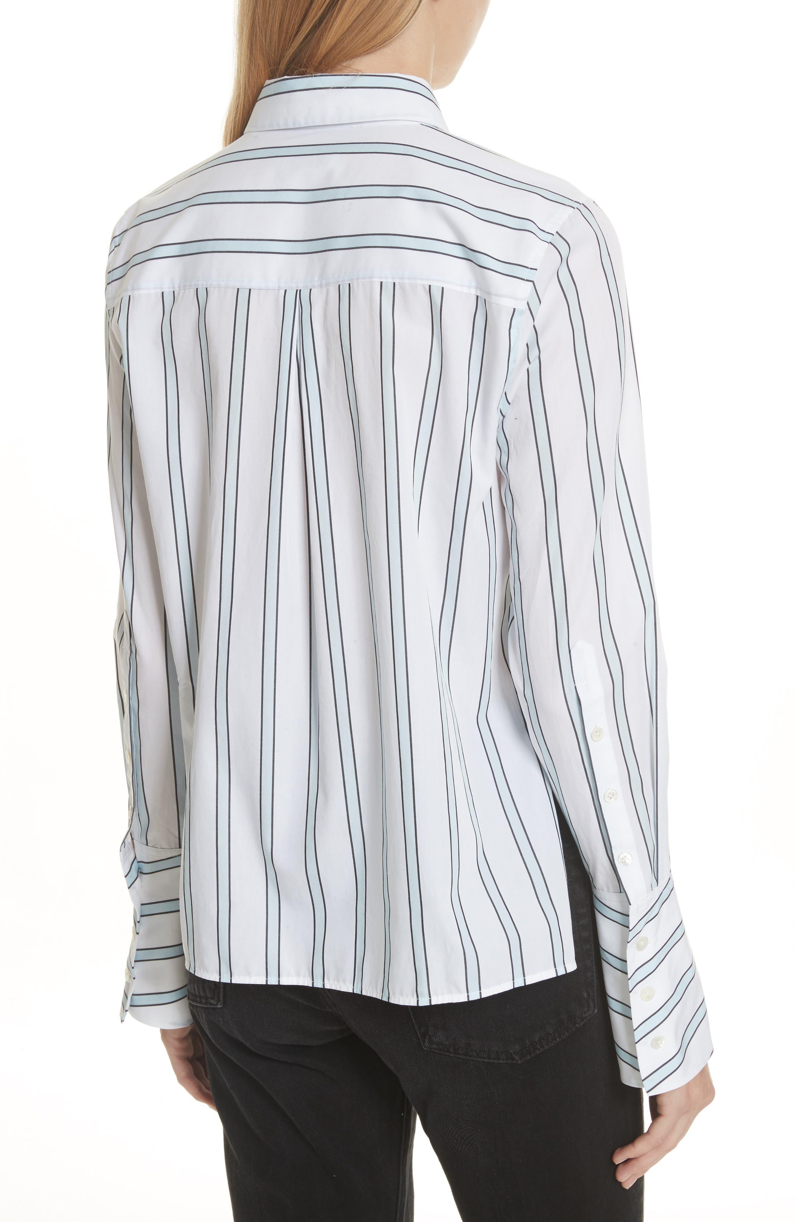 Huntley Stripe Cotton Shirt,                             Alternate thumbnail 2, color,                             157