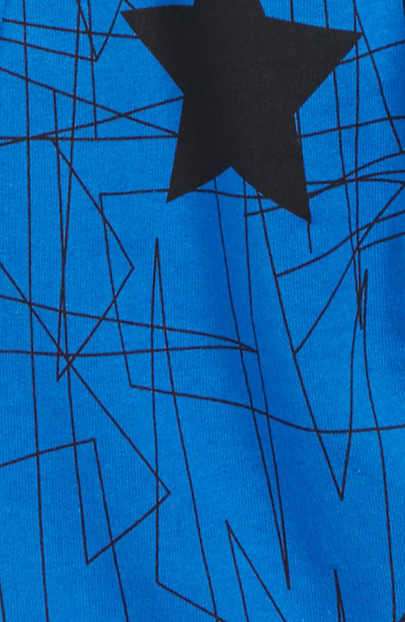 KIDDING AROUND,                             Long Sleeve Shirt & Sweatpants Set,                             Alternate thumbnail 2, color,                             HEATHER GREY/ COBALT