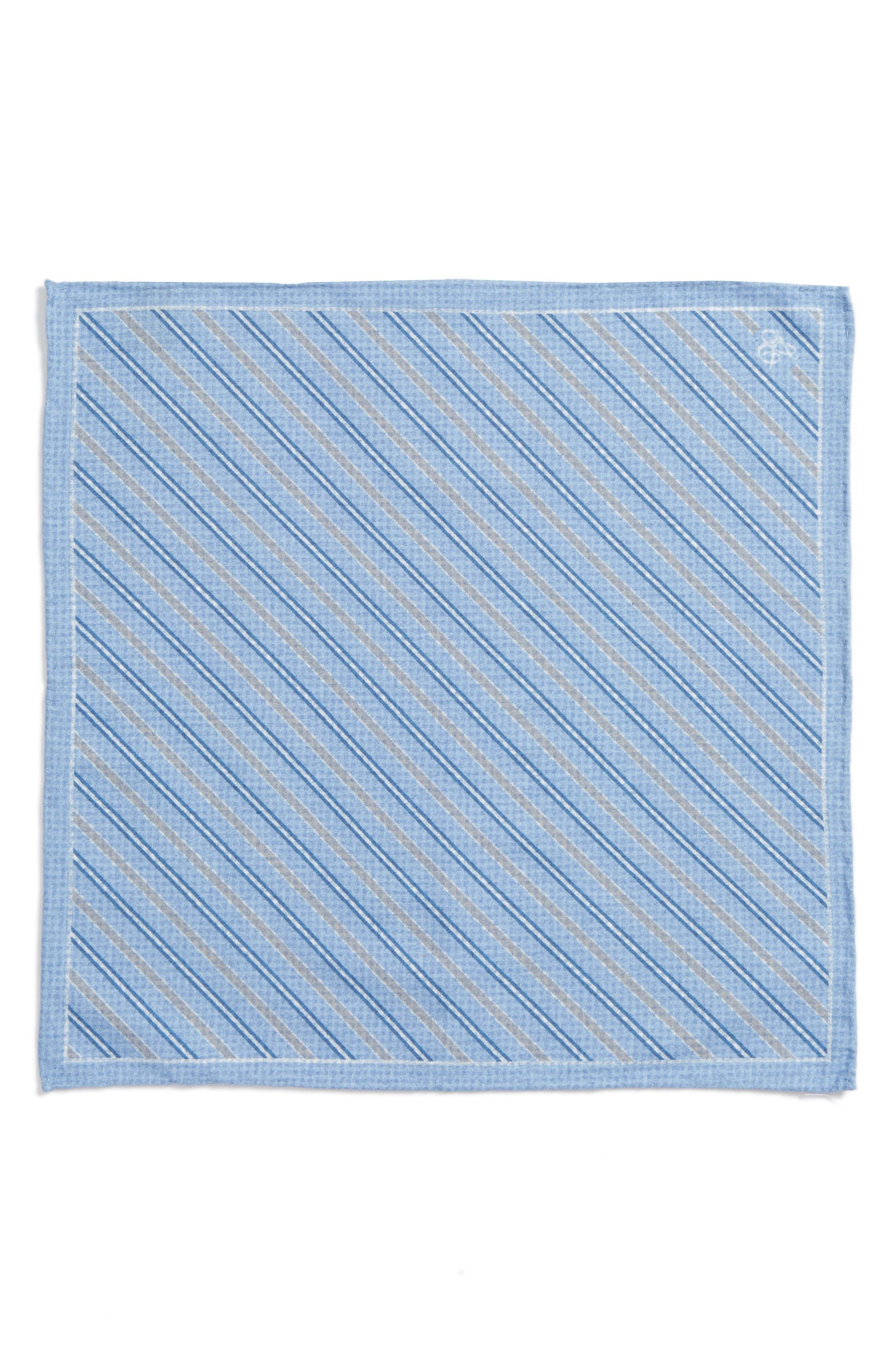 Stripe Cotton & Silk Pocket Square,                             Alternate thumbnail 2, color,