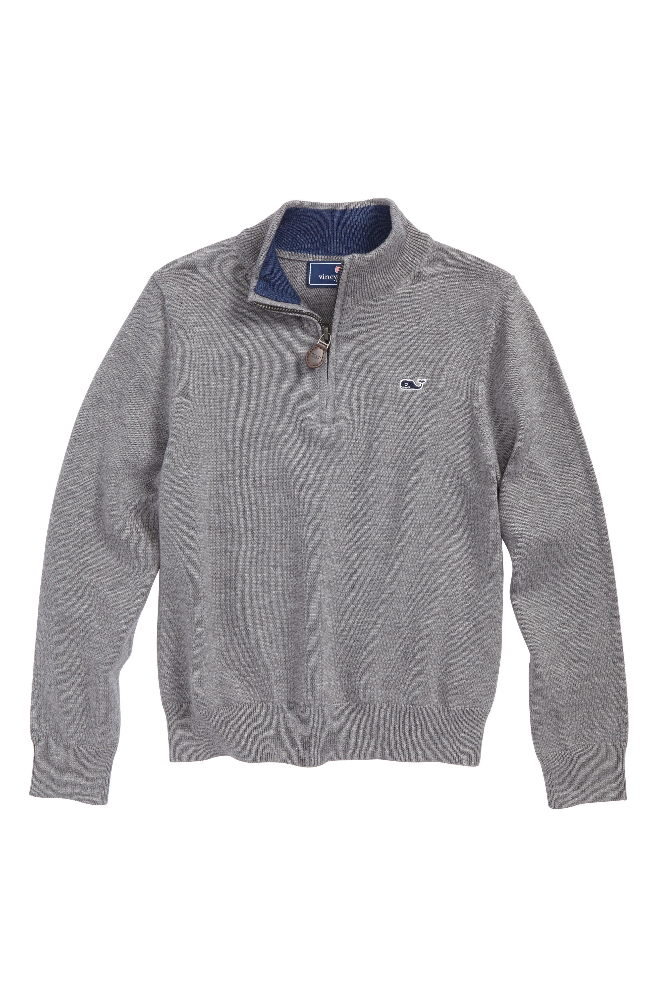 Classic Quarter Zip Sweater,                             Main thumbnail 1, color,                             030