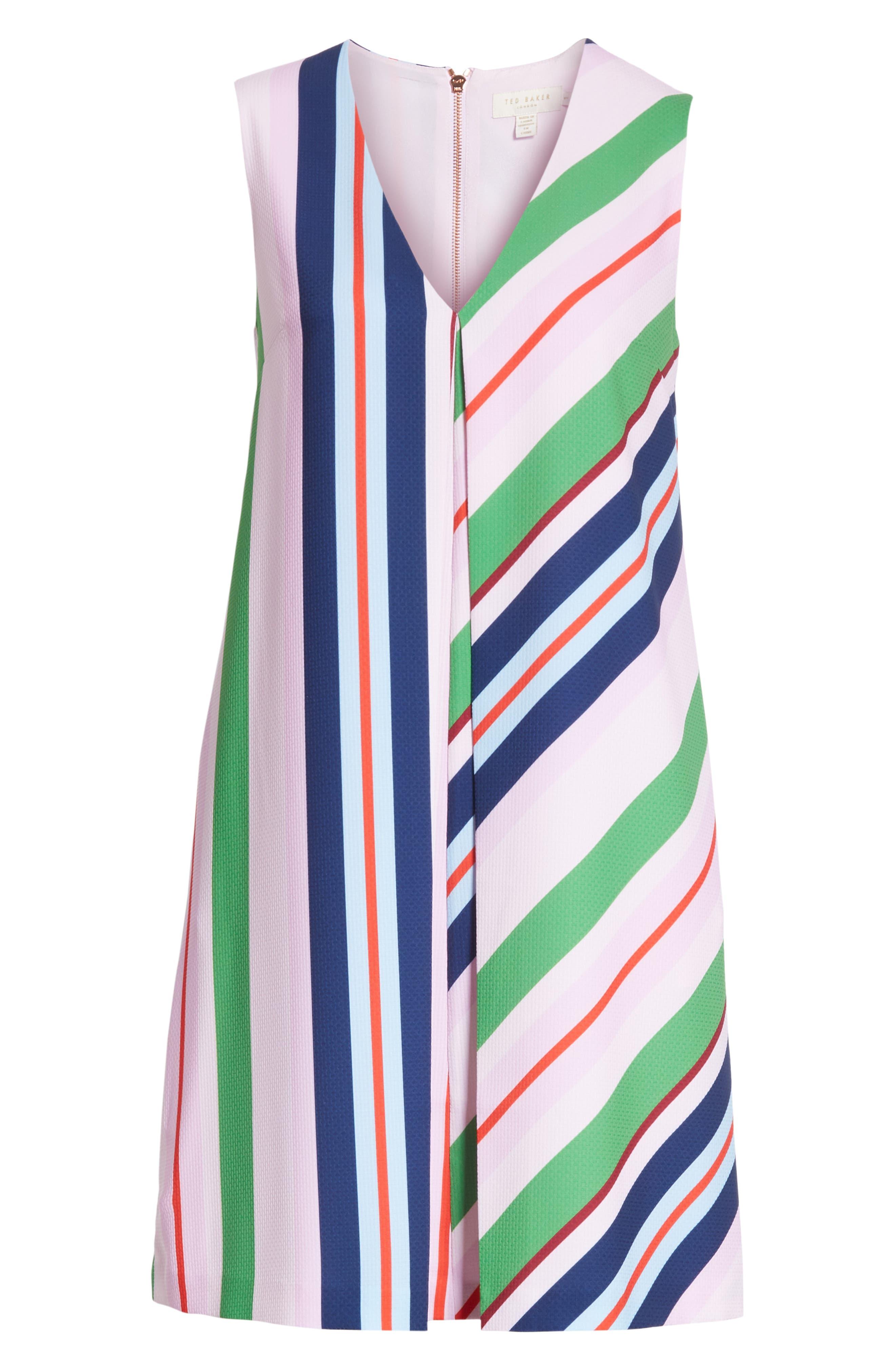 Stripe Shift Dress,                             Alternate thumbnail 6, color,                             680