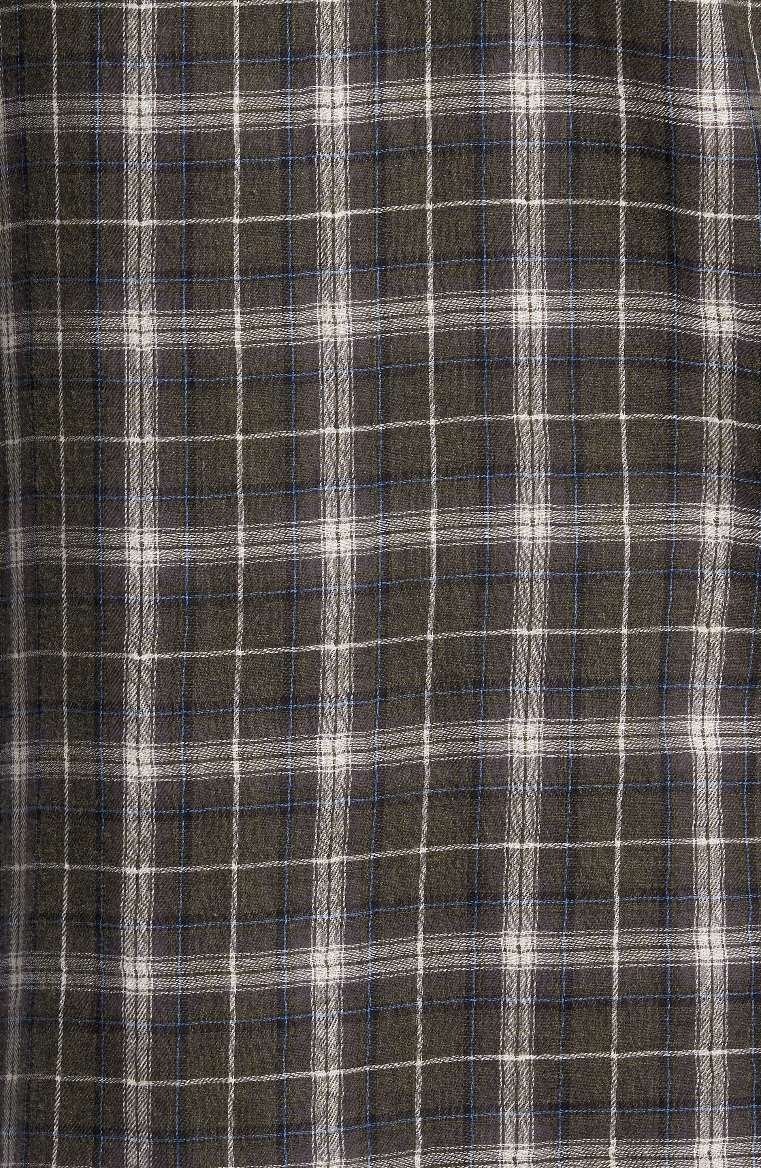 Plaid Double Face Sport Shirt,                             Alternate thumbnail 5, color,                             200
