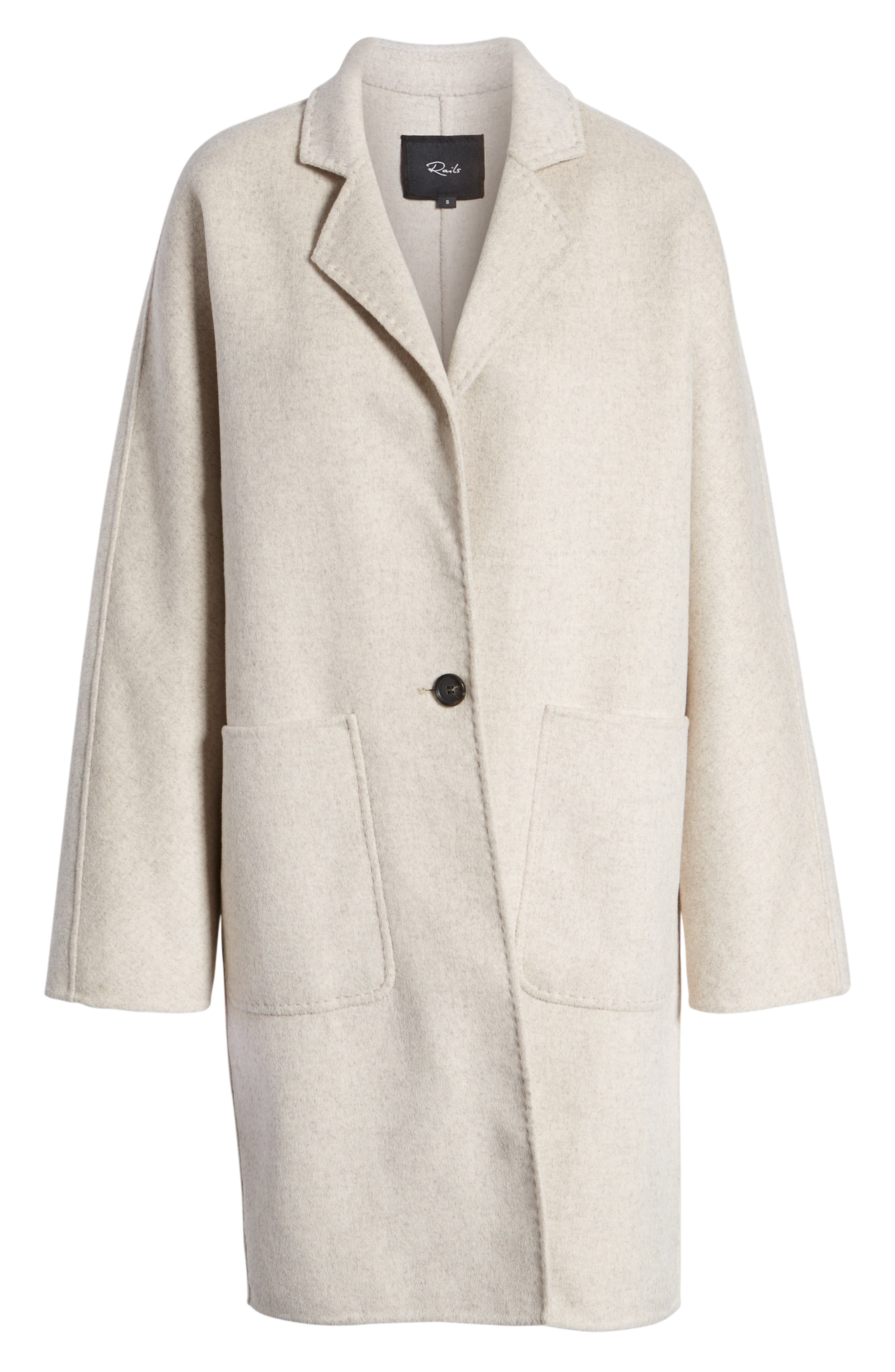 Everest Wool Blend Coat,                             Alternate thumbnail 7, color,                             OATMEAL