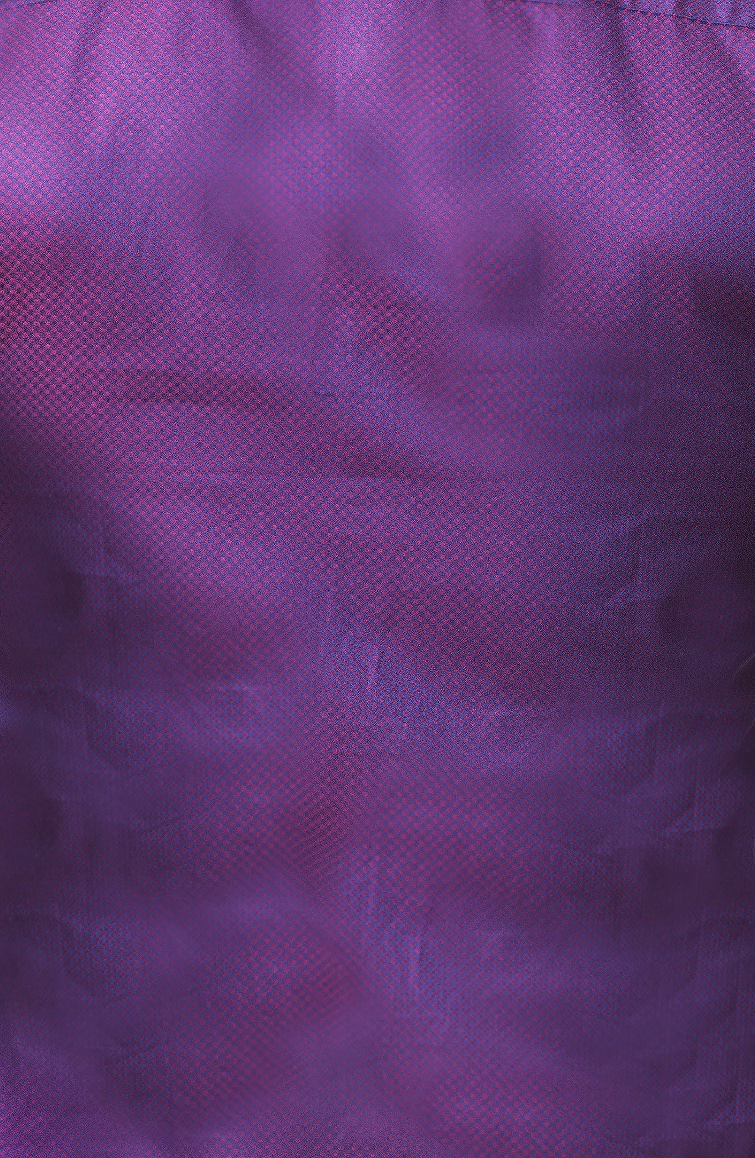 Einstein Dot Trim Fit Sport Shirt,                             Alternate thumbnail 3, color,                             RED