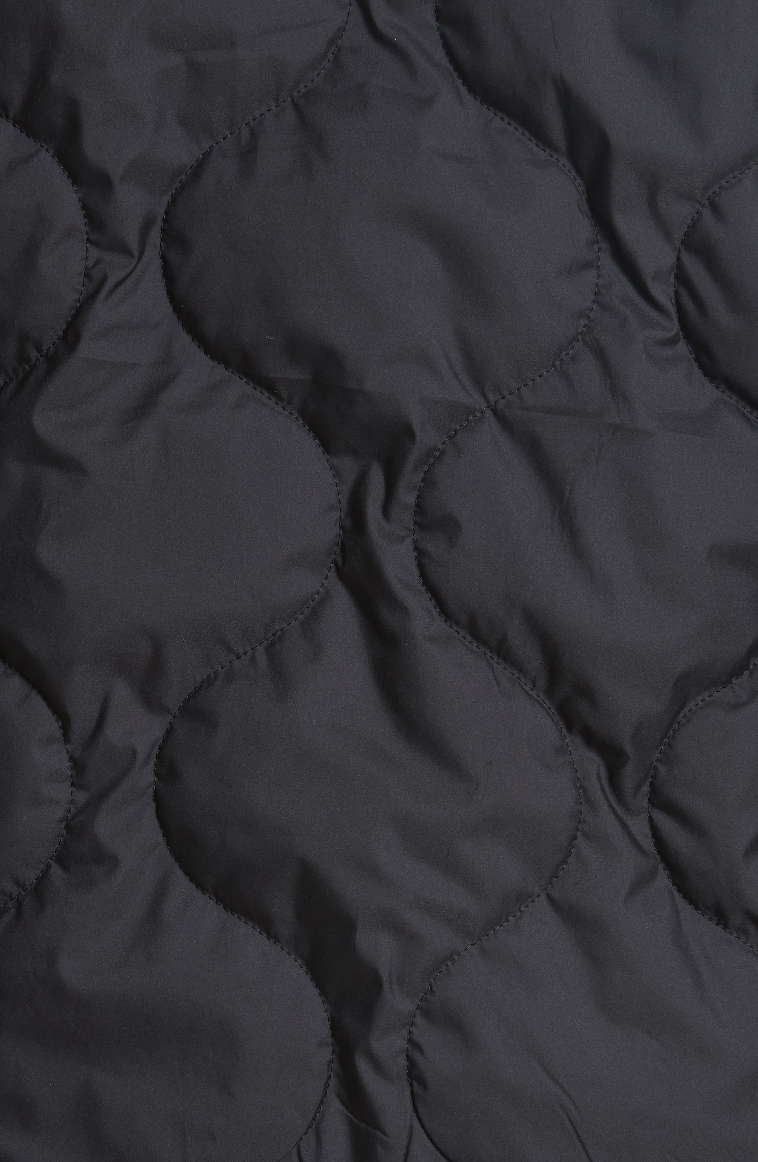 Quilted Zip Hoodie,                             Alternate thumbnail 6, color,                             001