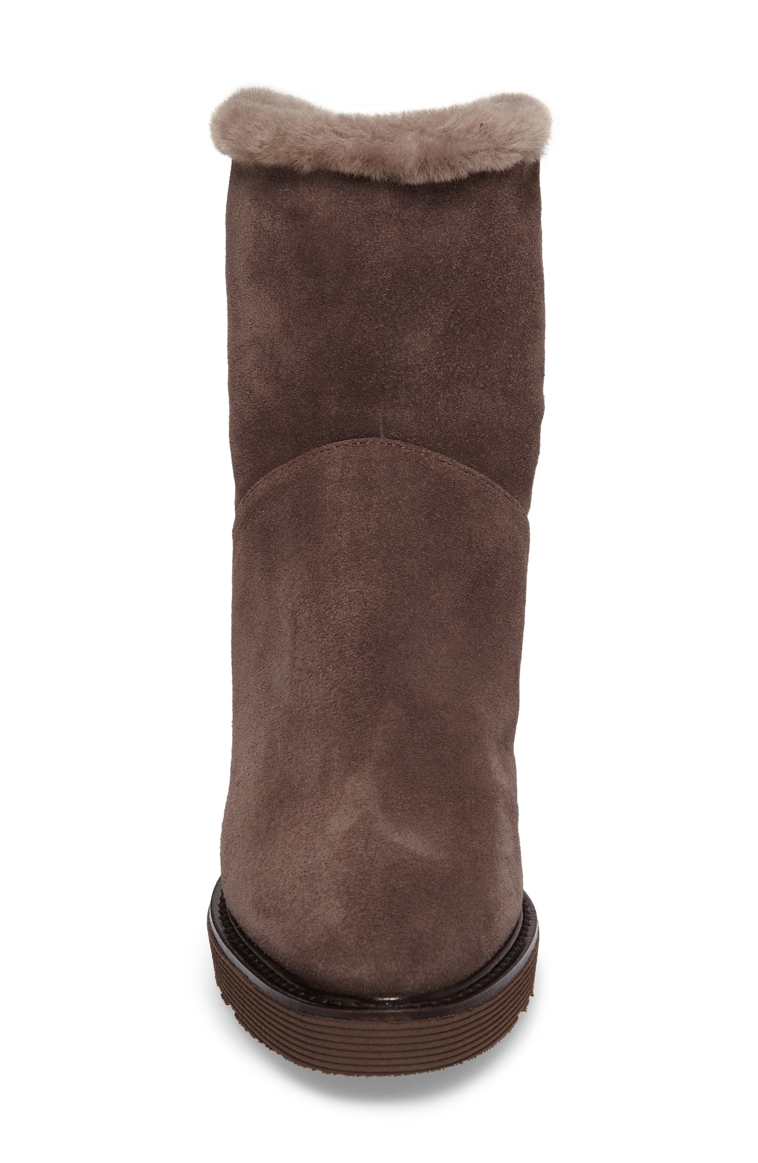 Kimberly Weatherproof Genuine Shearling Bootie,                             Alternate thumbnail 15, color,