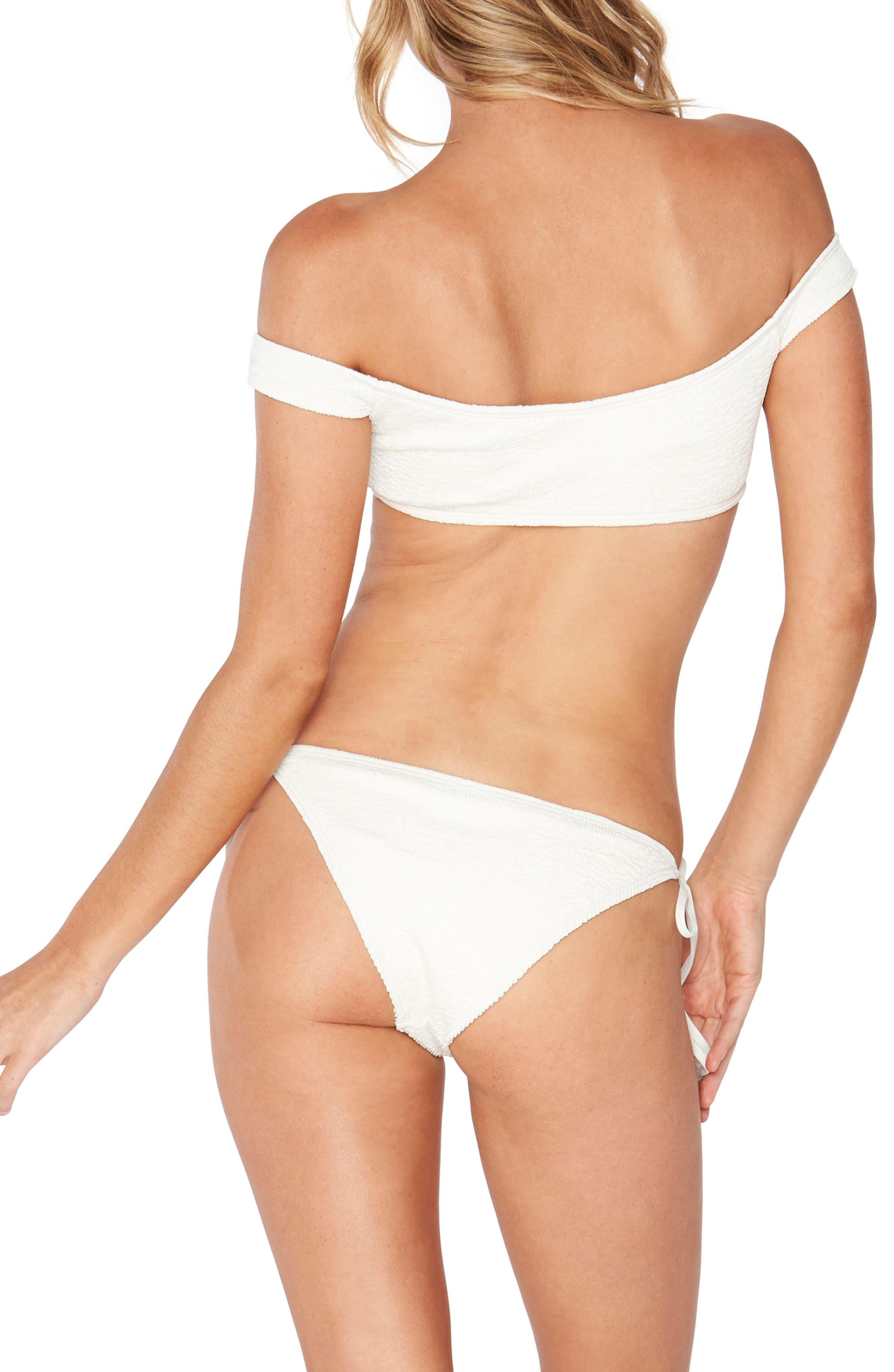 Ziggy Pucker Off the Shoulder Bikini Top,                             Alternate thumbnail 10, color,