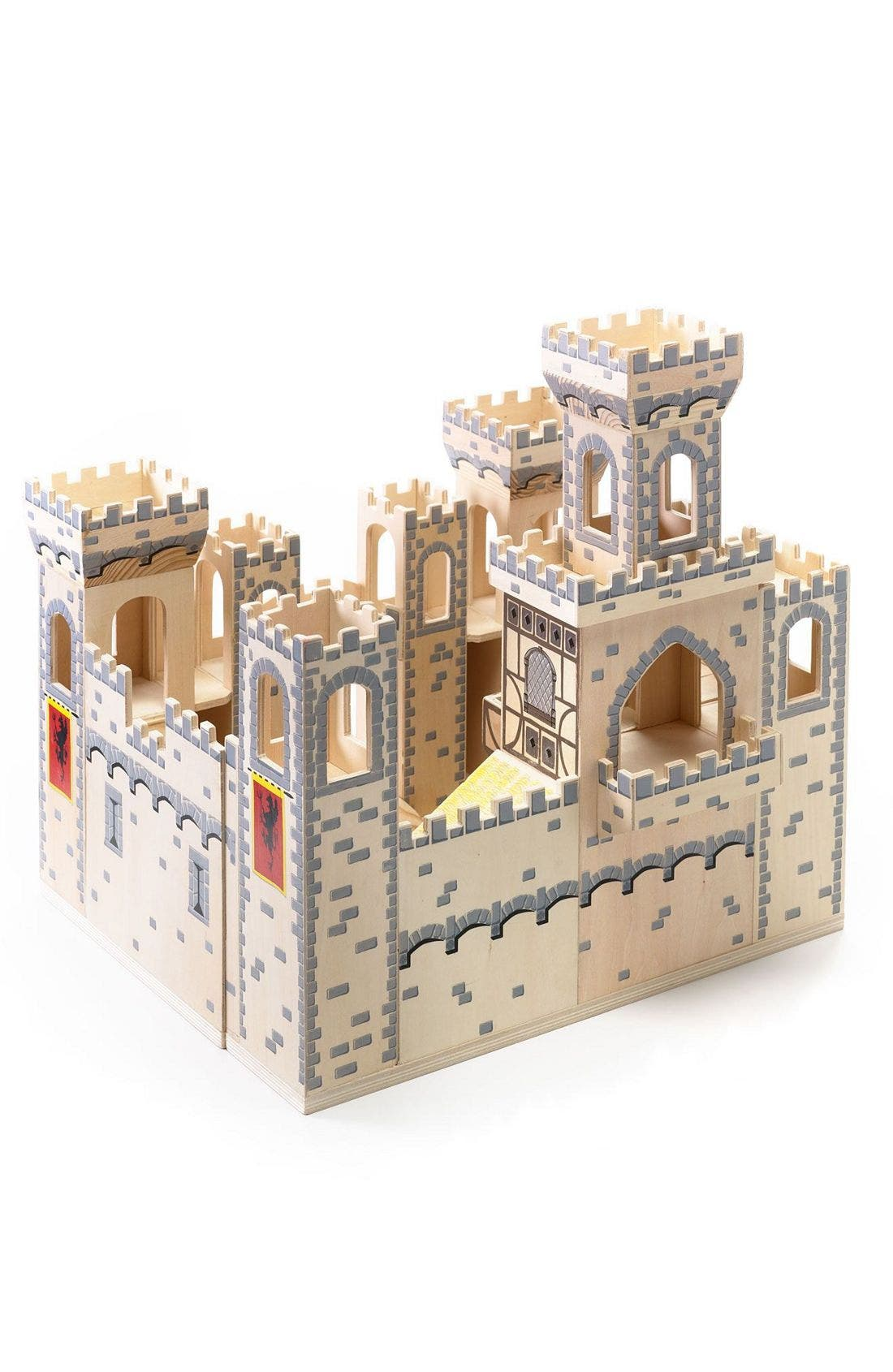 Wood Play Castle,                             Alternate thumbnail 6, color,