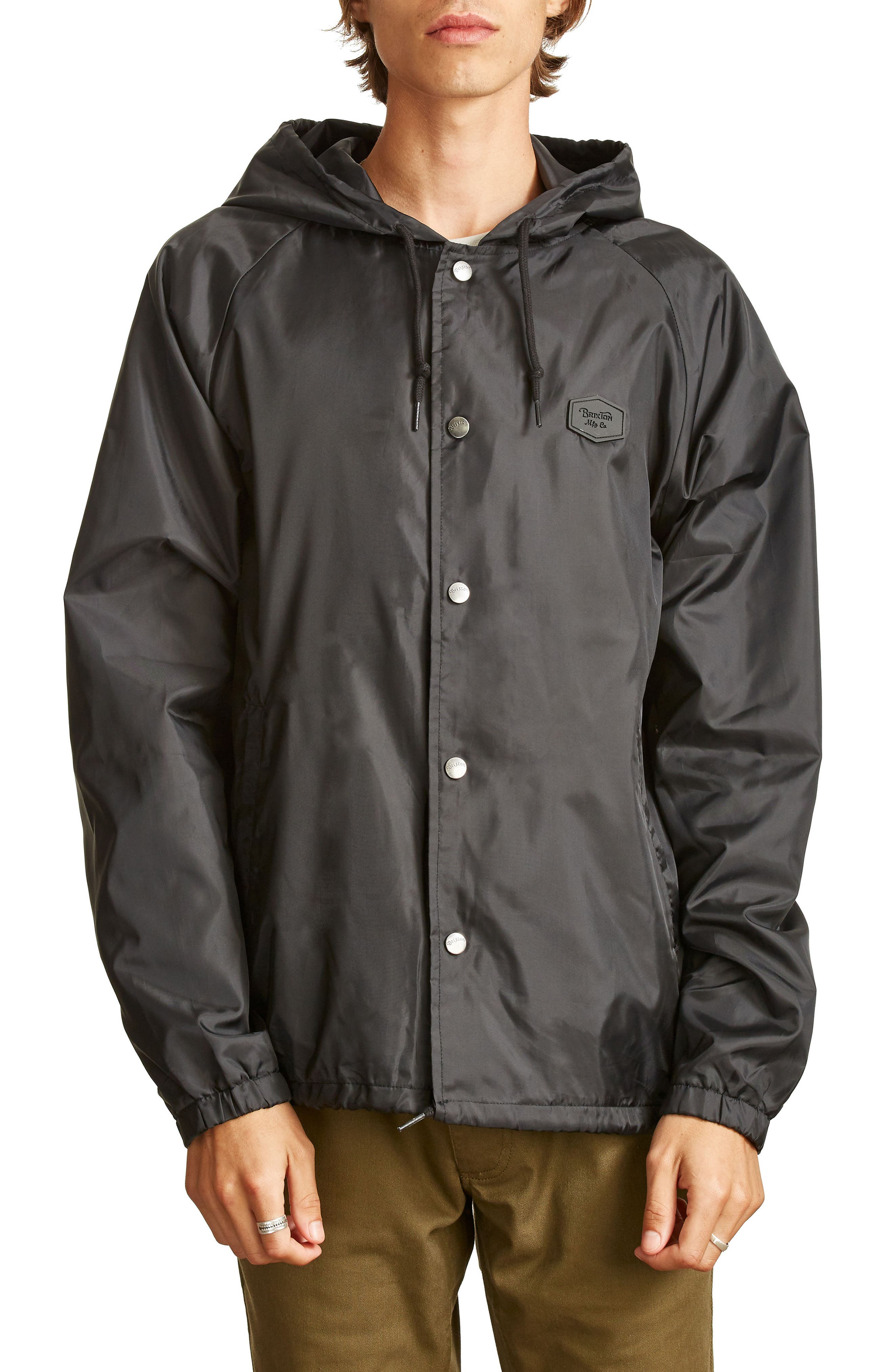 Hark Water-Resistant Coach's Jacket,                             Main thumbnail 1, color,                             001