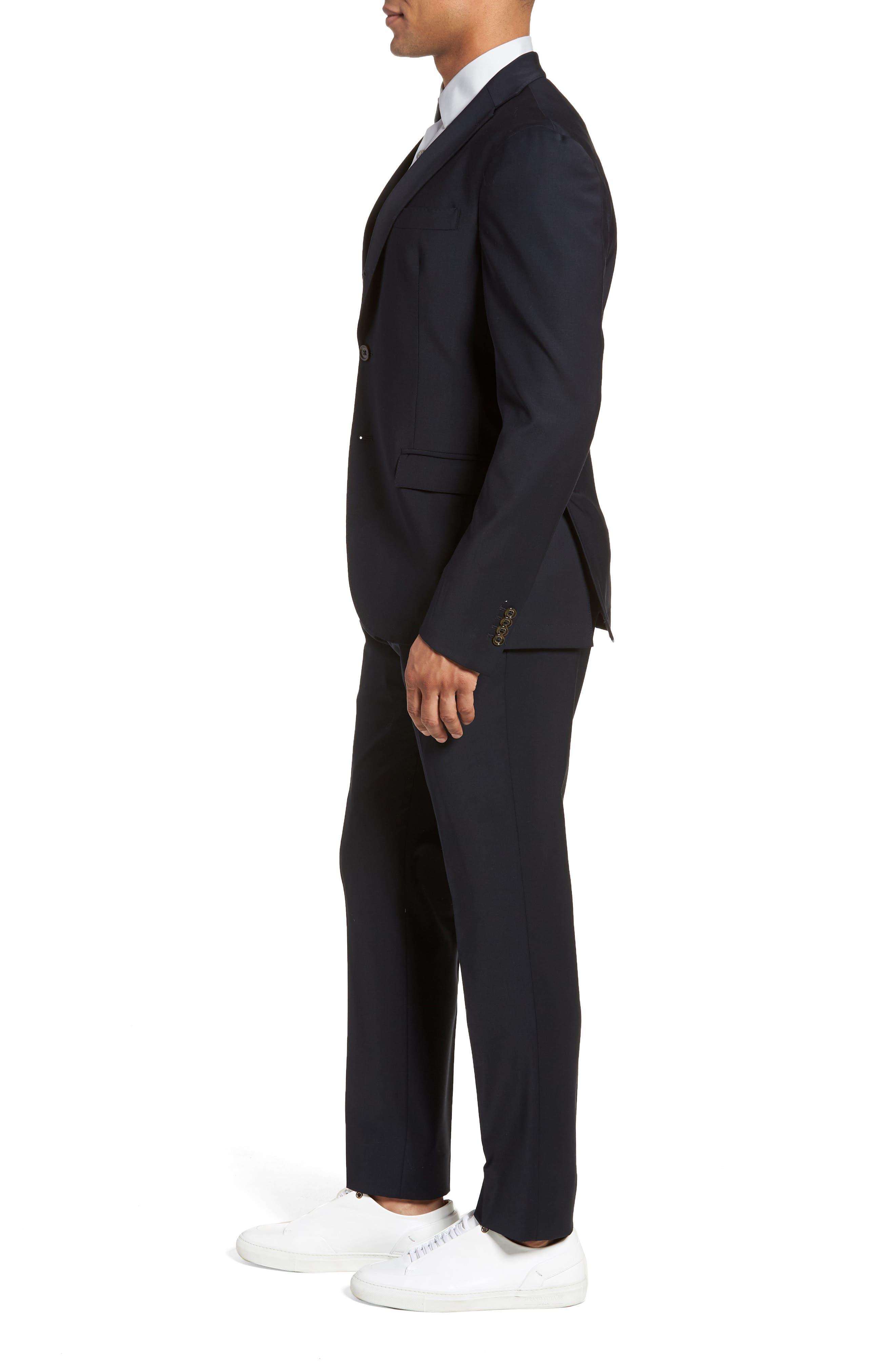 Trim Fit Stretch Wool Suit,                             Alternate thumbnail 6, color,