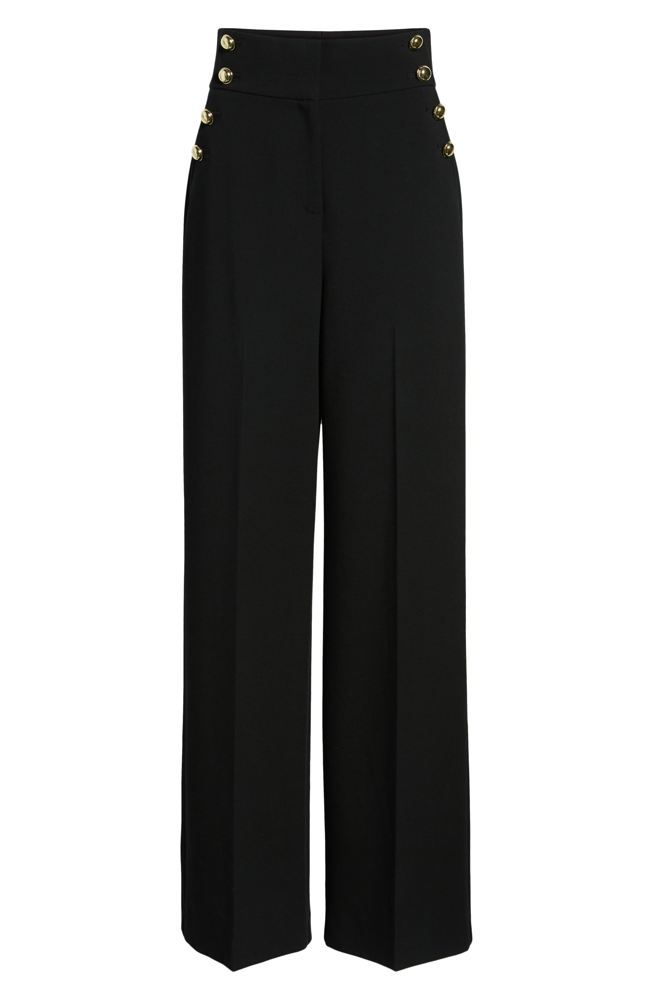 x Atlantic-Pacific High Waist Wide Leg Pants,                             Alternate thumbnail 7, color,                             BLACK