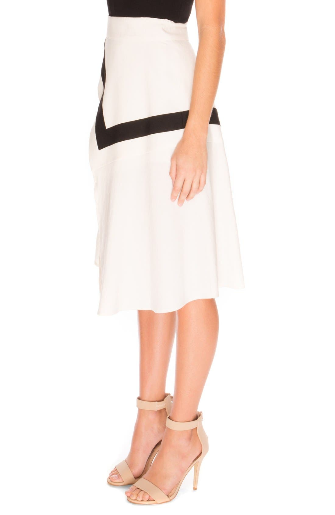 the Label 'Lay it Down' Front Slit Skirt,                             Alternate thumbnail 3, color,                             900
