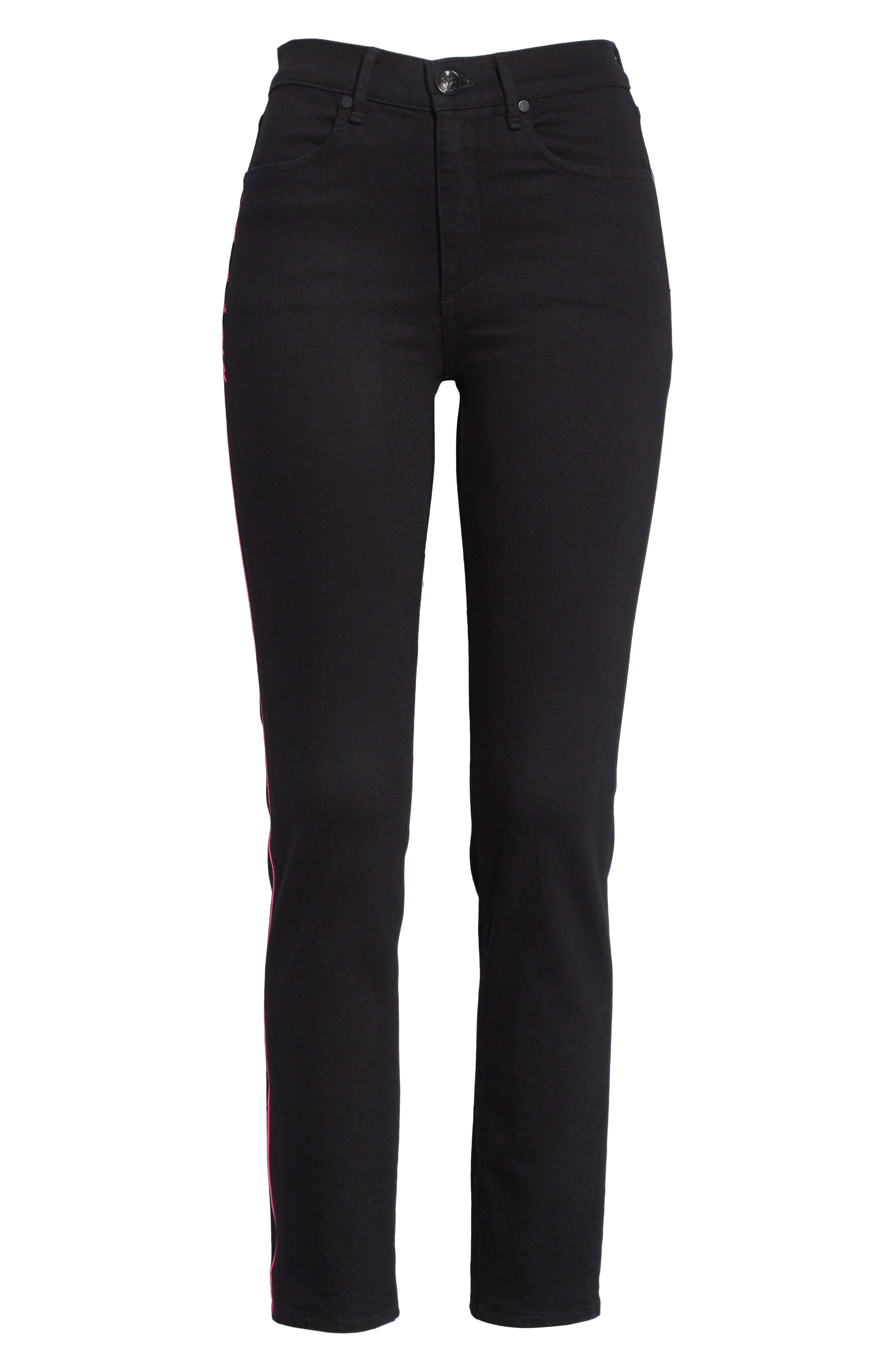 Ash High Waist Skinny Jeans,                             Alternate thumbnail 6, color,