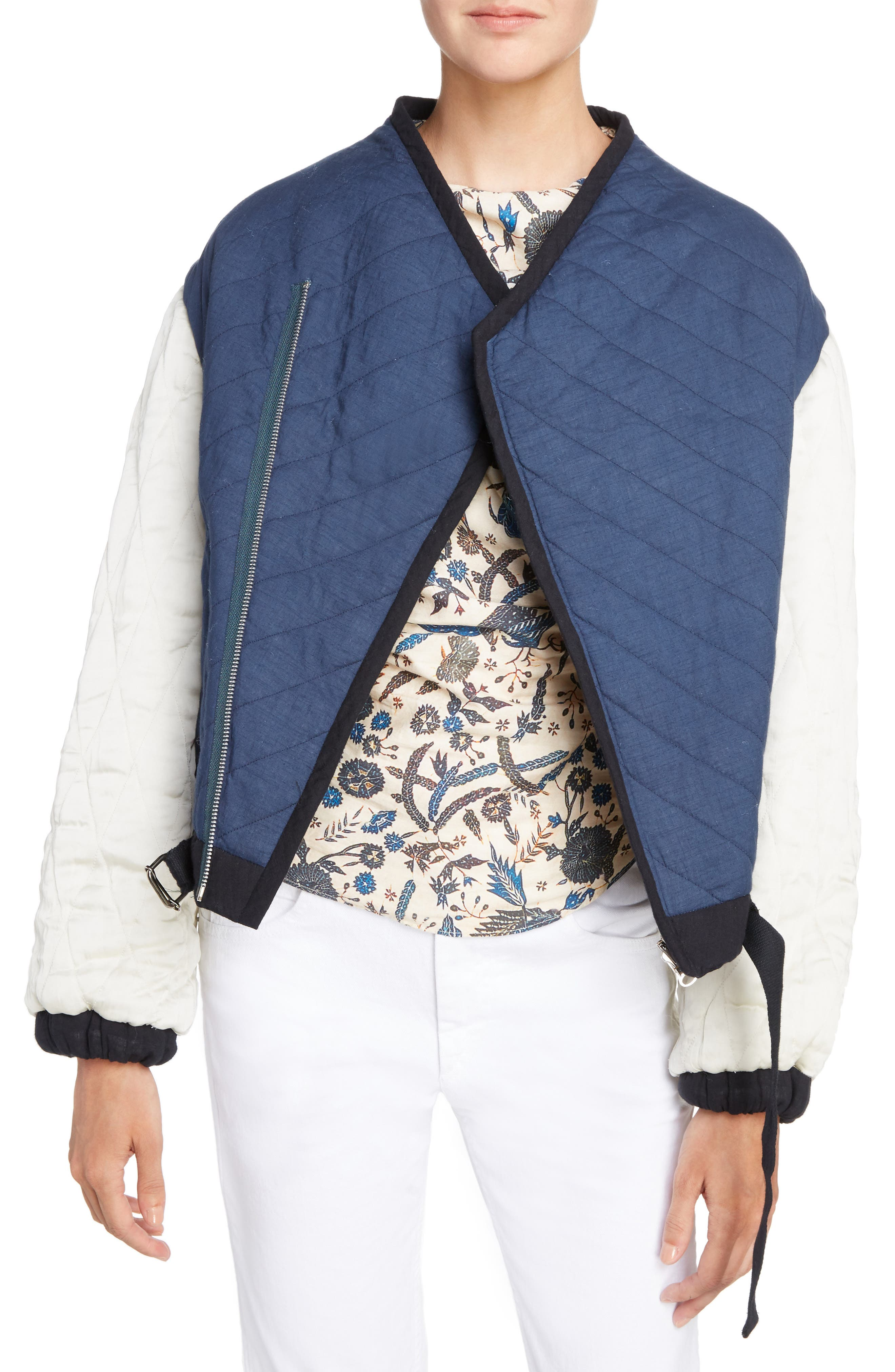 Isabel Marant Étoile Hanae Quilted Bomber,                             Main thumbnail 1, color,                             400