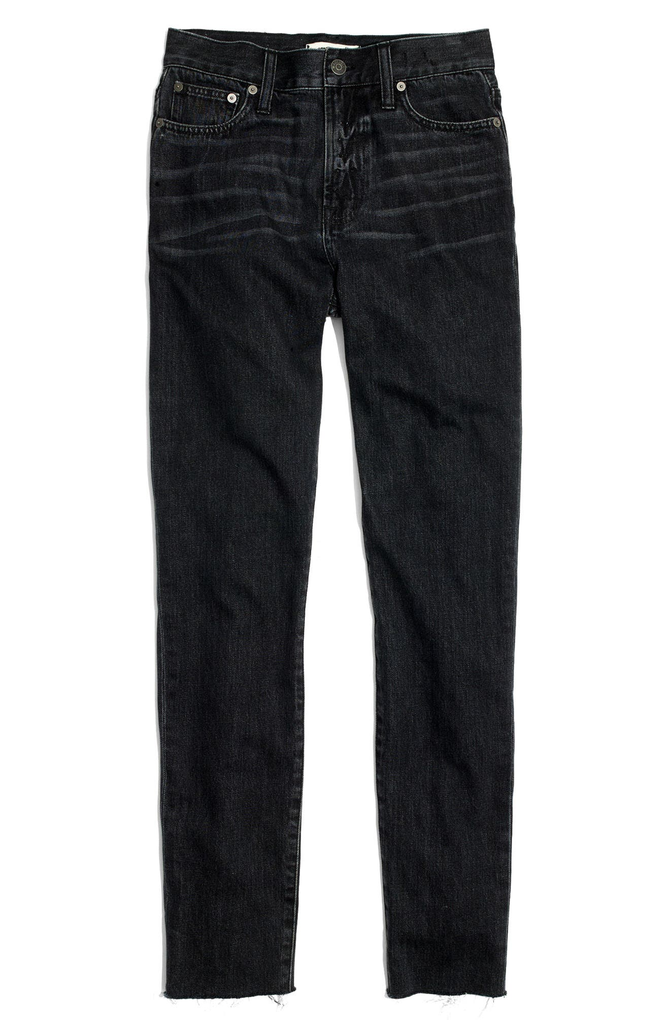 The Perfect Summer 11-Inch High Waist Ankle Straight Leg Jeans,                             Alternate thumbnail 7, color,                             009