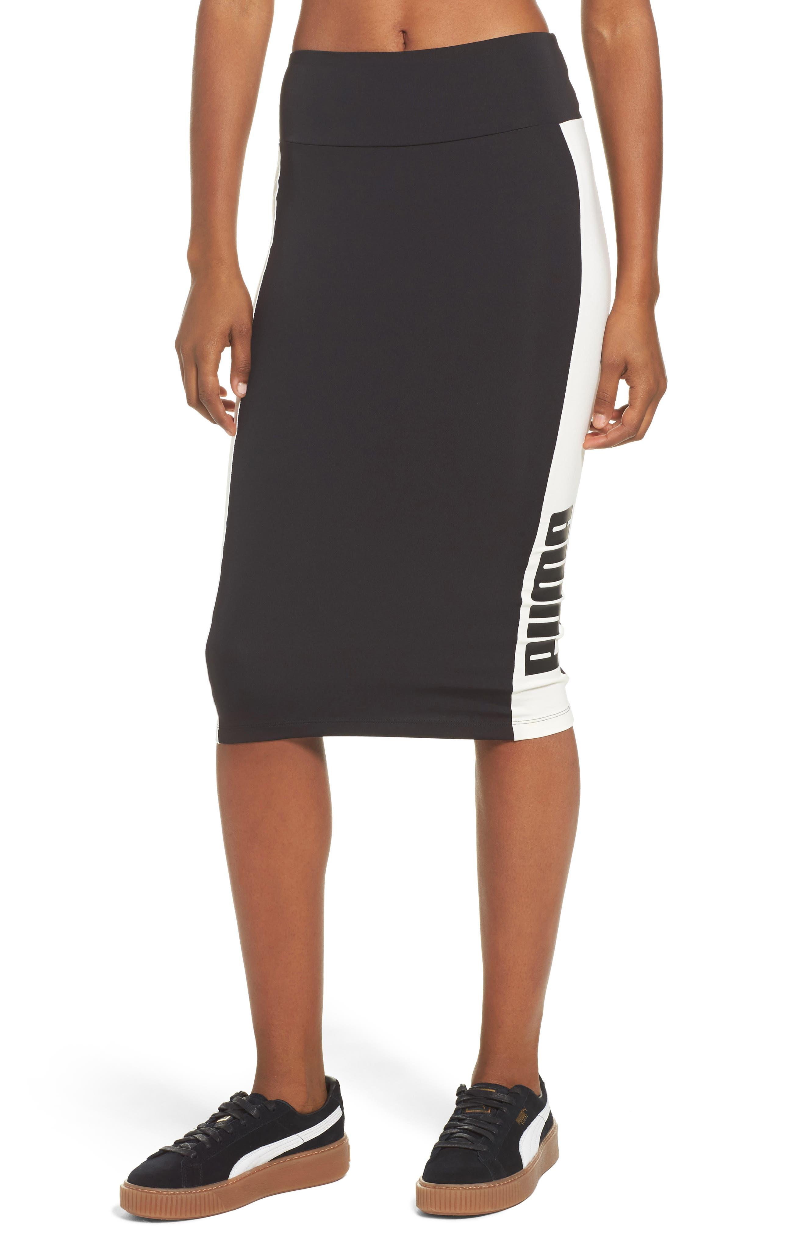 Archive Logo Pencil Skirt, Main, color, 001