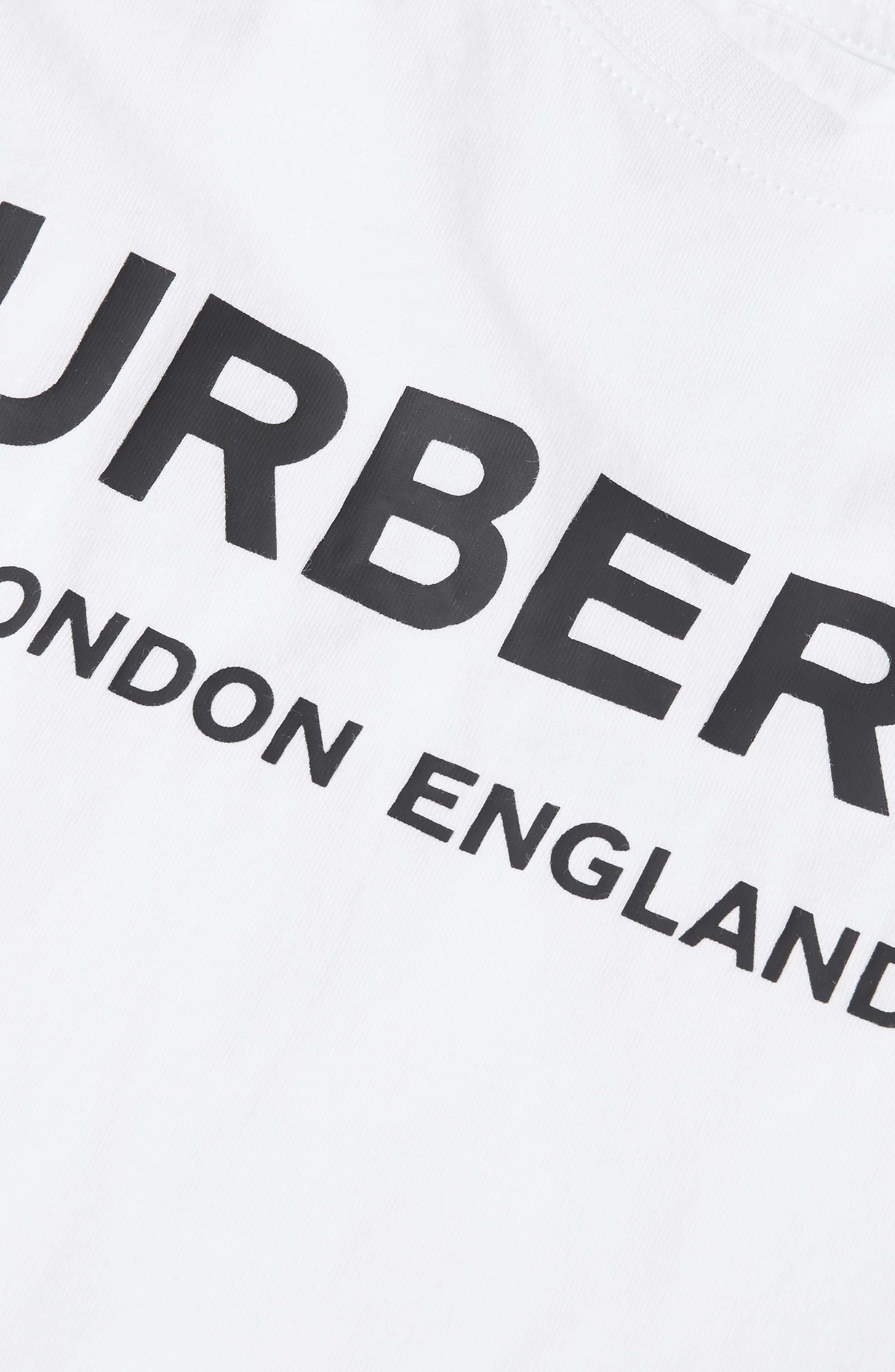 BURBERRY,                             Mini Robbie T-Shirt,                             Alternate thumbnail 3, color,                             100
