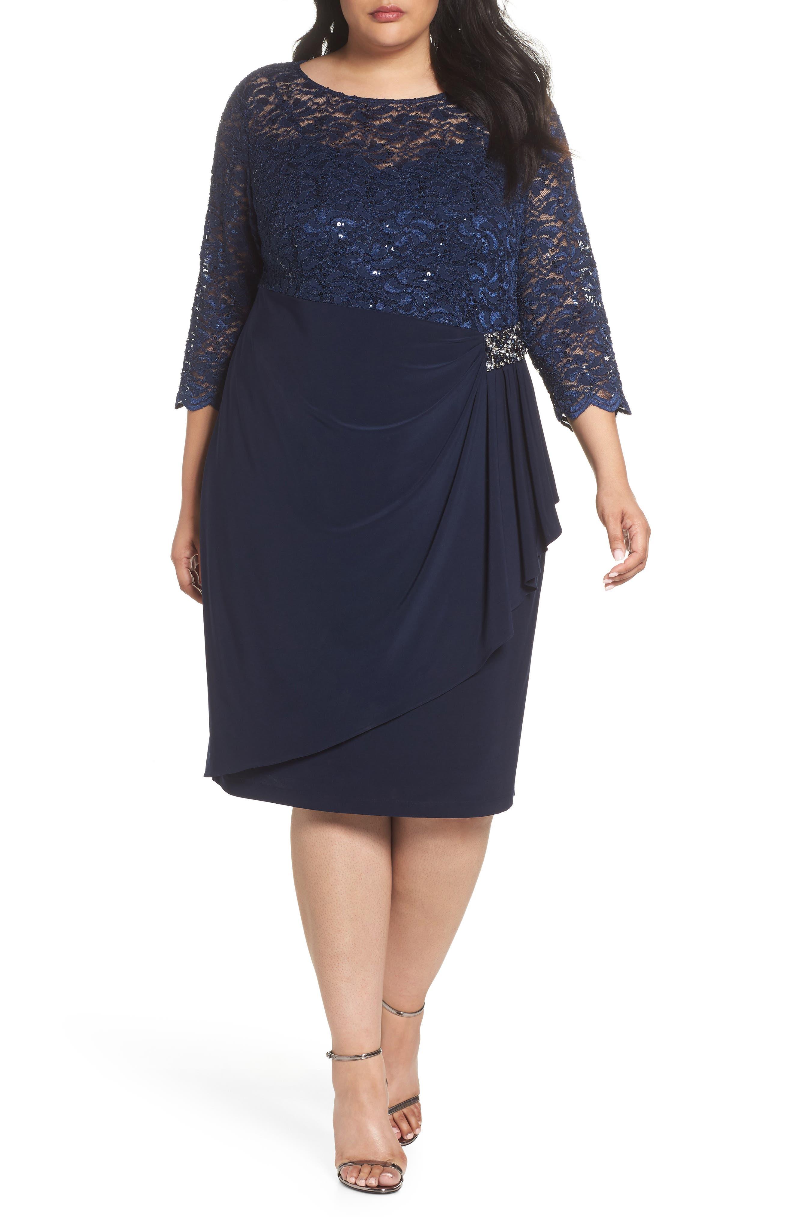 Embellished Ruffle Detail Shift Dress,                         Main,                         color, 410