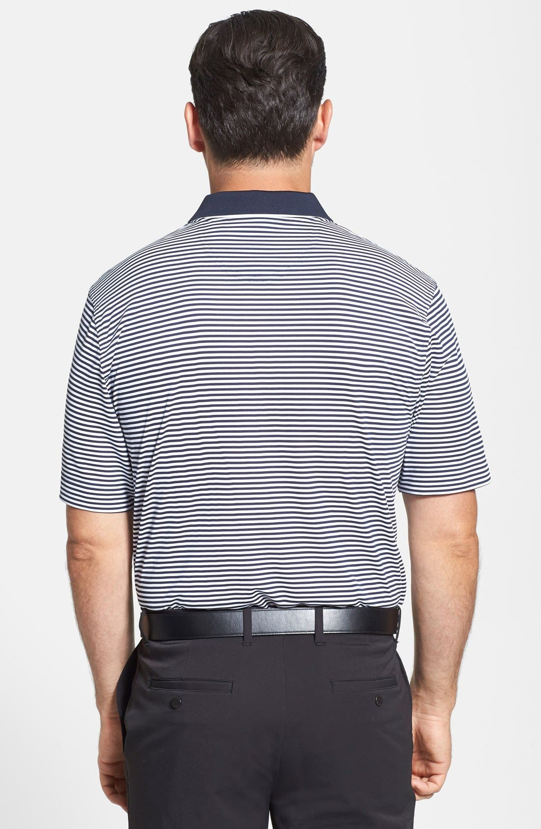 Trevor Stripe DryTec Polo,                             Alternate thumbnail 5, color,                             BLACK/ OXIDE
