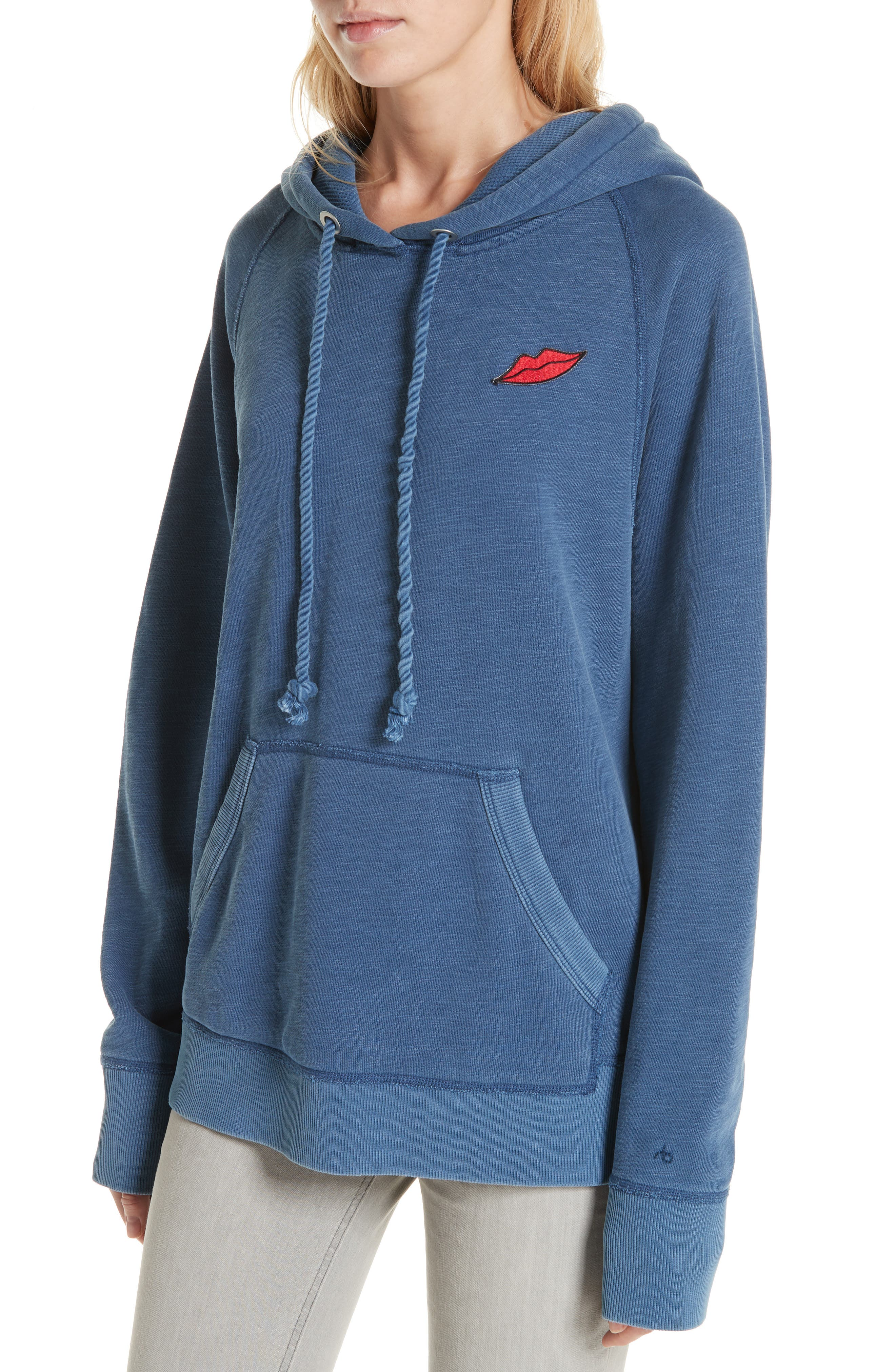 Racer Hoodie,                             Alternate thumbnail 4, color,                             WASHED NAVY