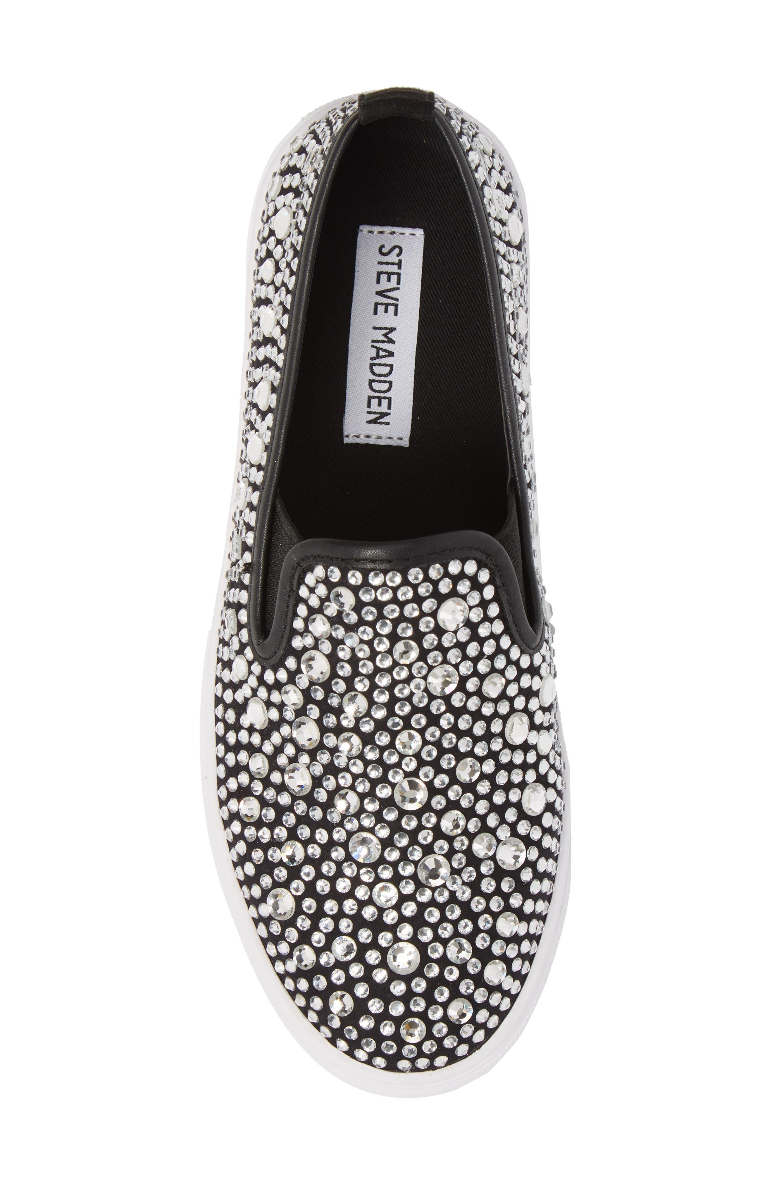 Evada Crystal Embellished Slip-On Sneaker,                             Alternate thumbnail 5, color,                             040