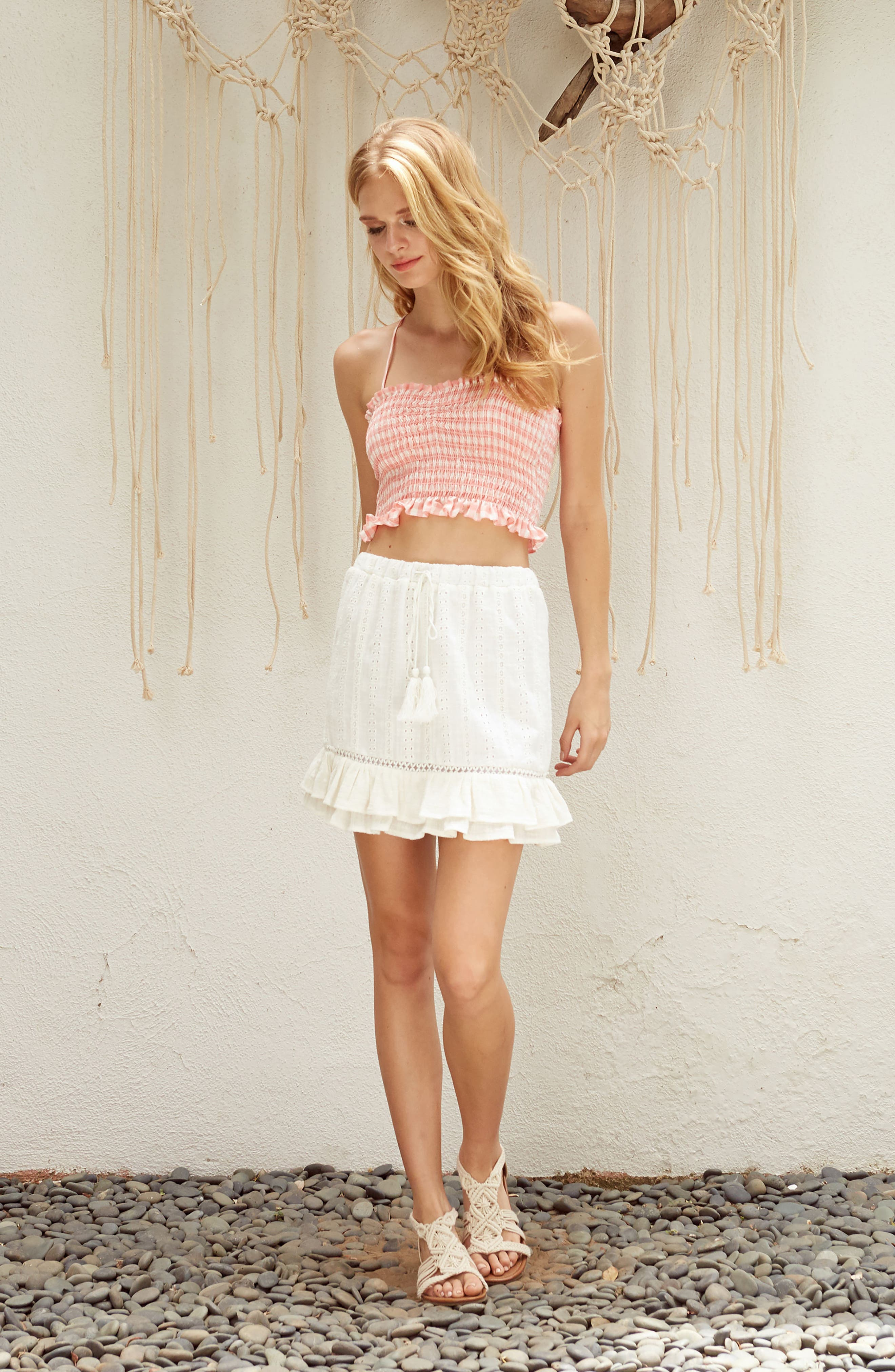 Daisy Ruffle Miniskirt,                             Alternate thumbnail 11, color,