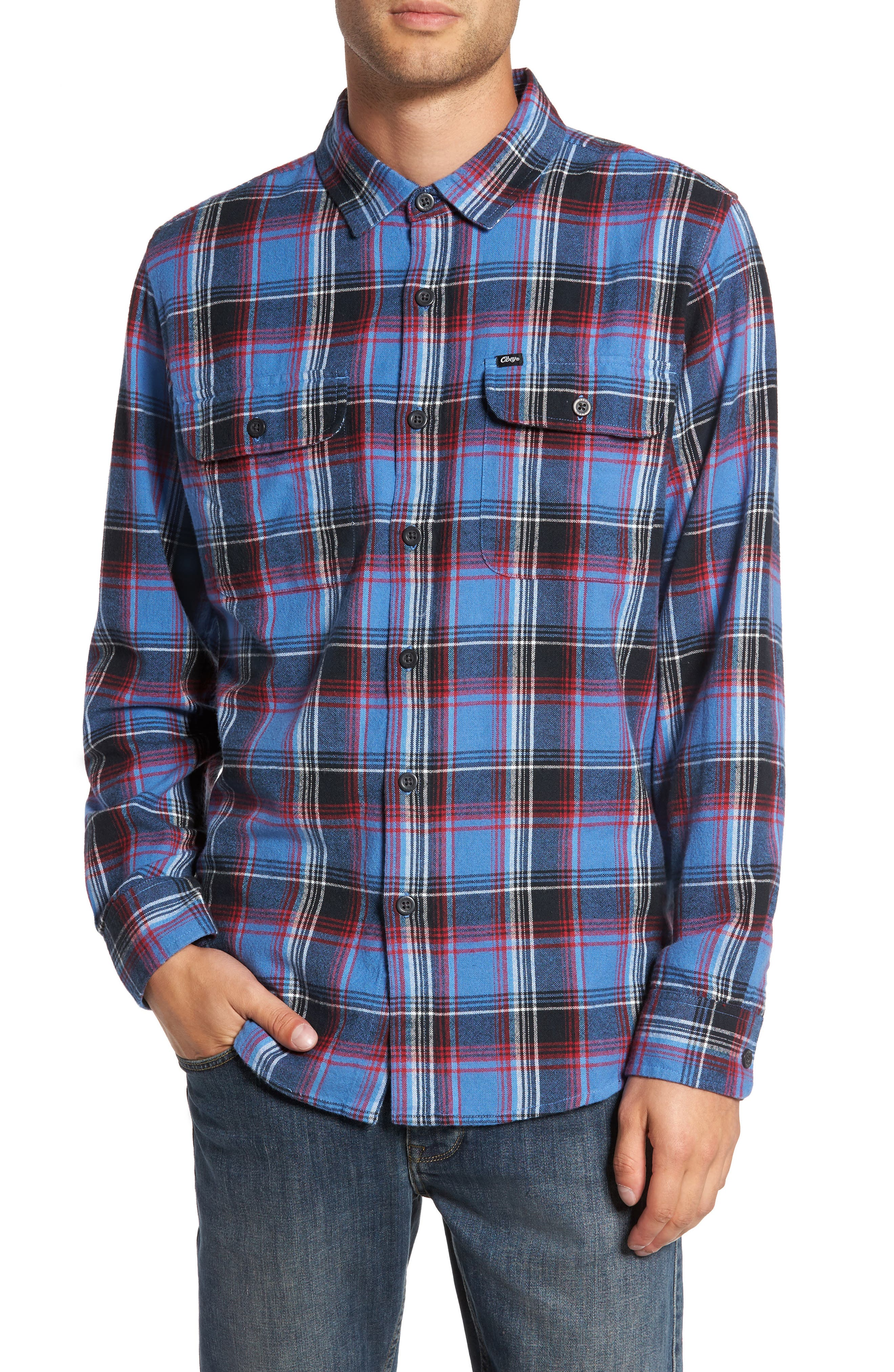 Marvyn Plaid Woven Shirt,                             Main thumbnail 1, color,                             410