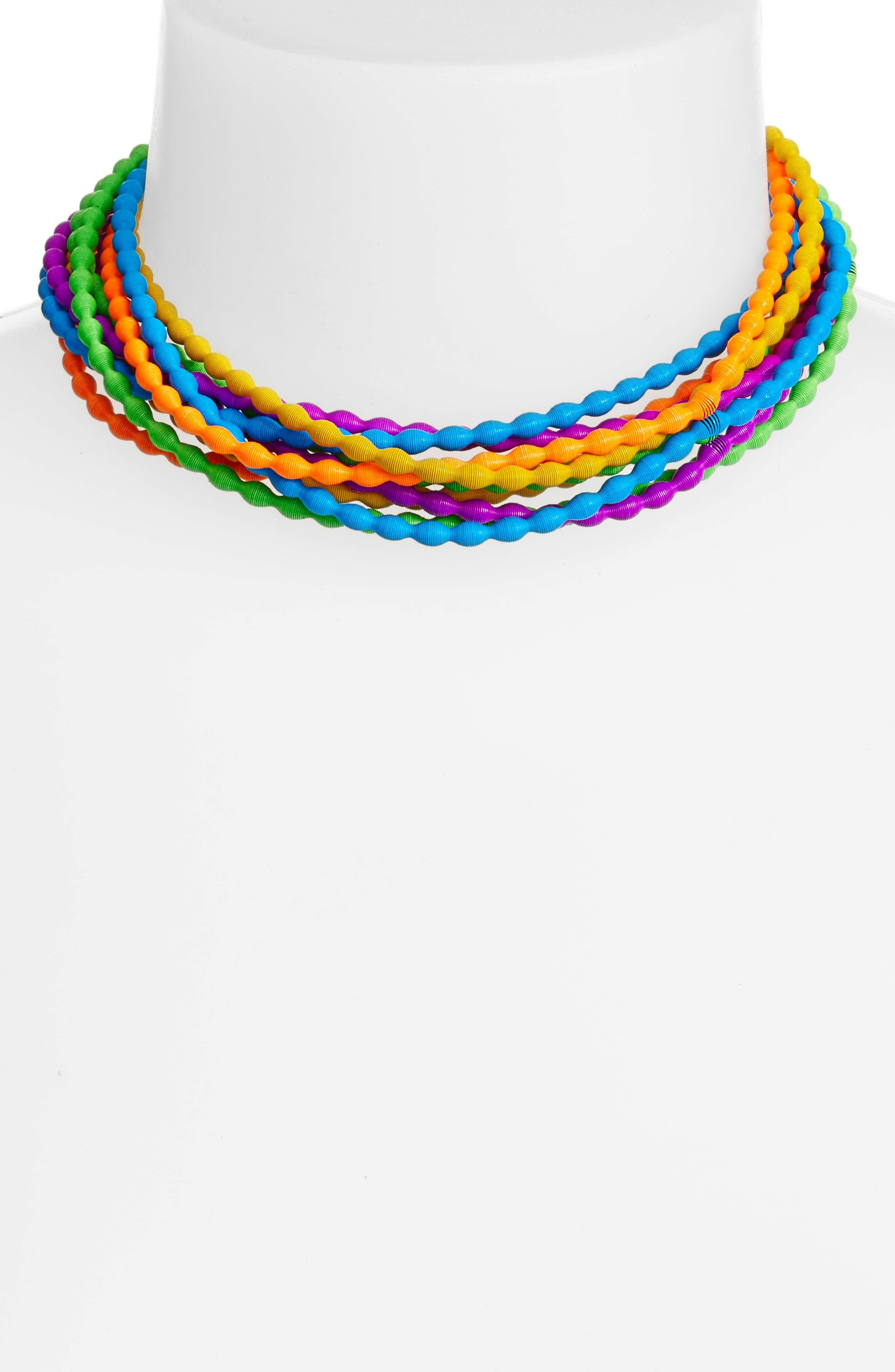 Rice Set of 10 Necklaces,                             Alternate thumbnail 2, color,                             NEON