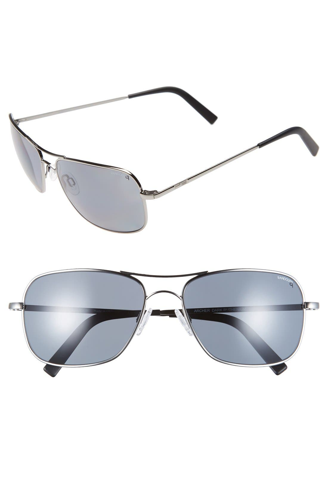 'Archer' 59mm Polarized Sunglasses,                             Main thumbnail 1, color,                             020