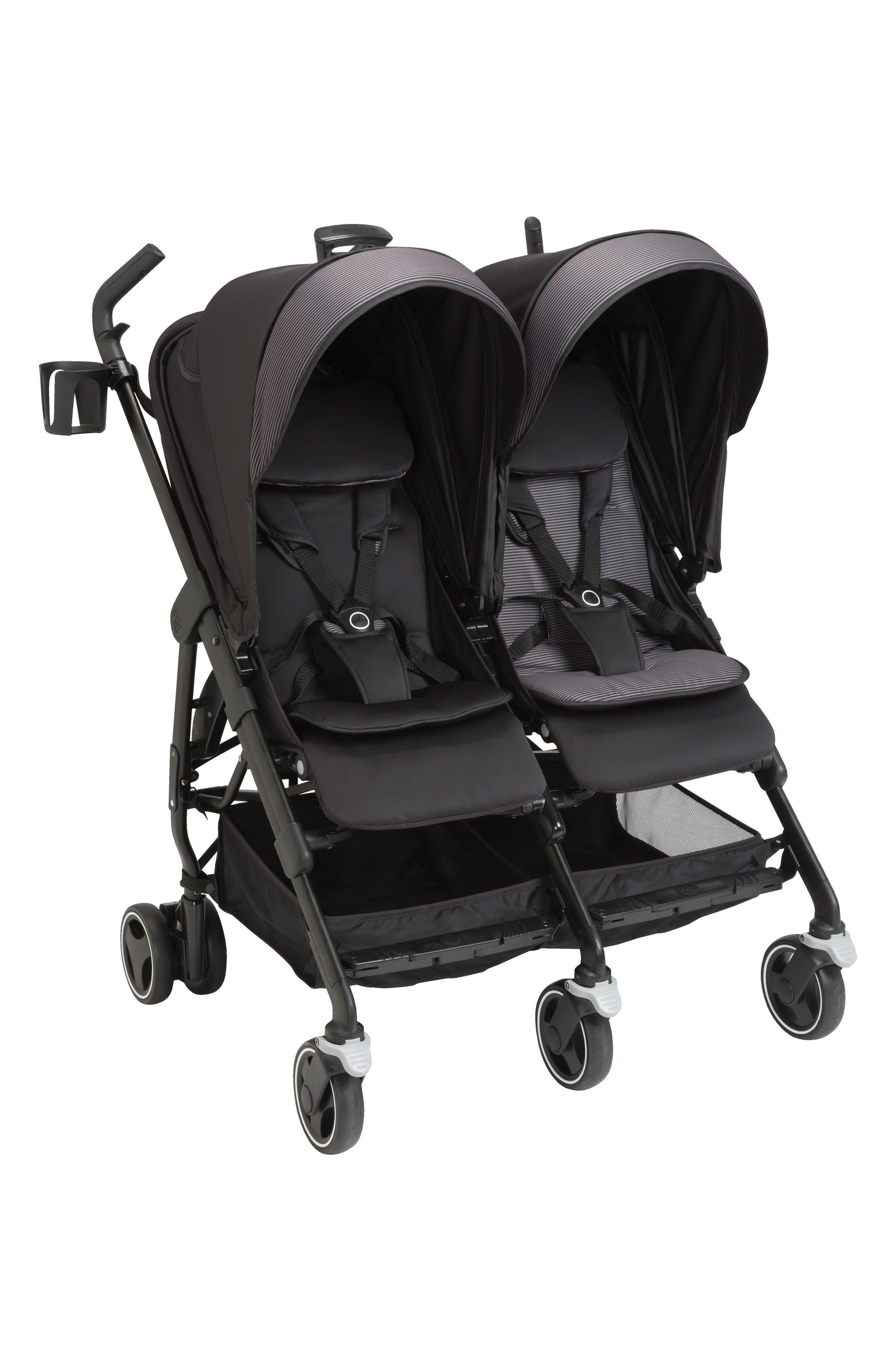 Dana For2 Double Stroller,                             Main thumbnail 1, color,                             DEVOTED BLACK