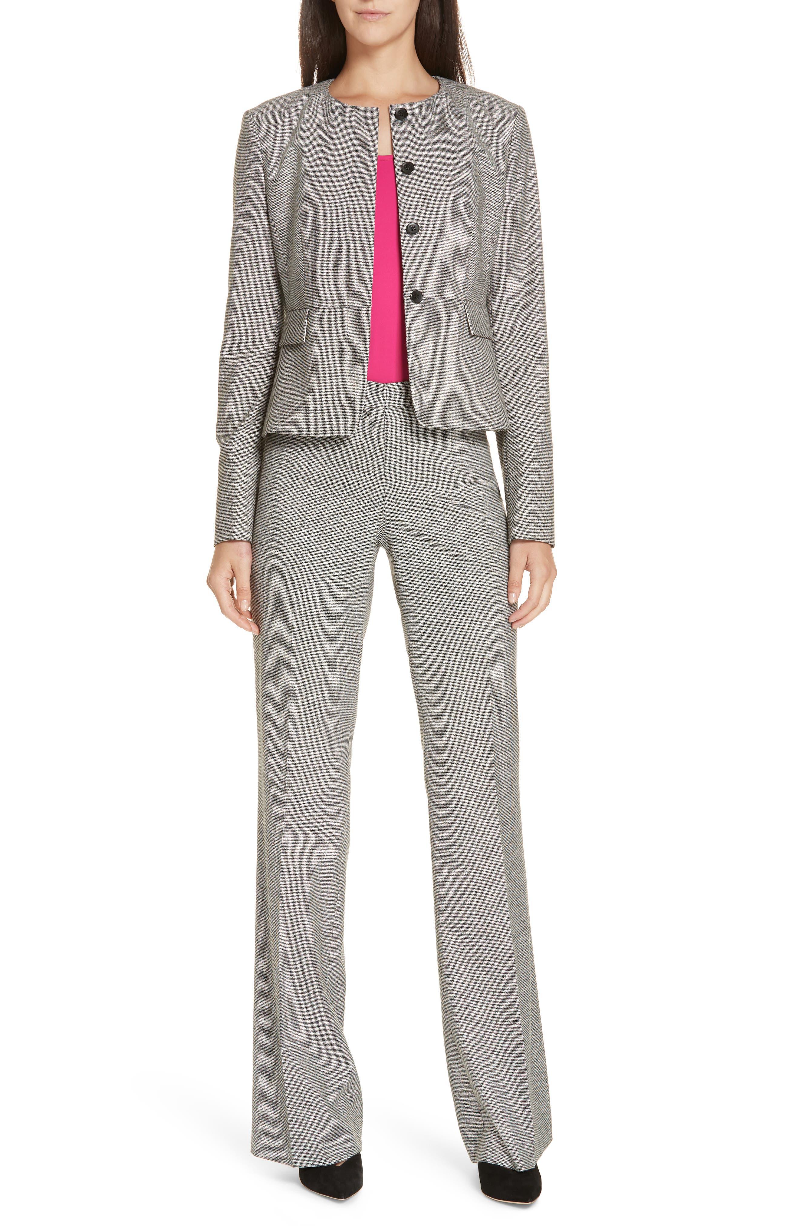 Tulea Blurred Optic Wool Suiting Trousers,                             Alternate thumbnail 7, color,                             BLACK FANTASY