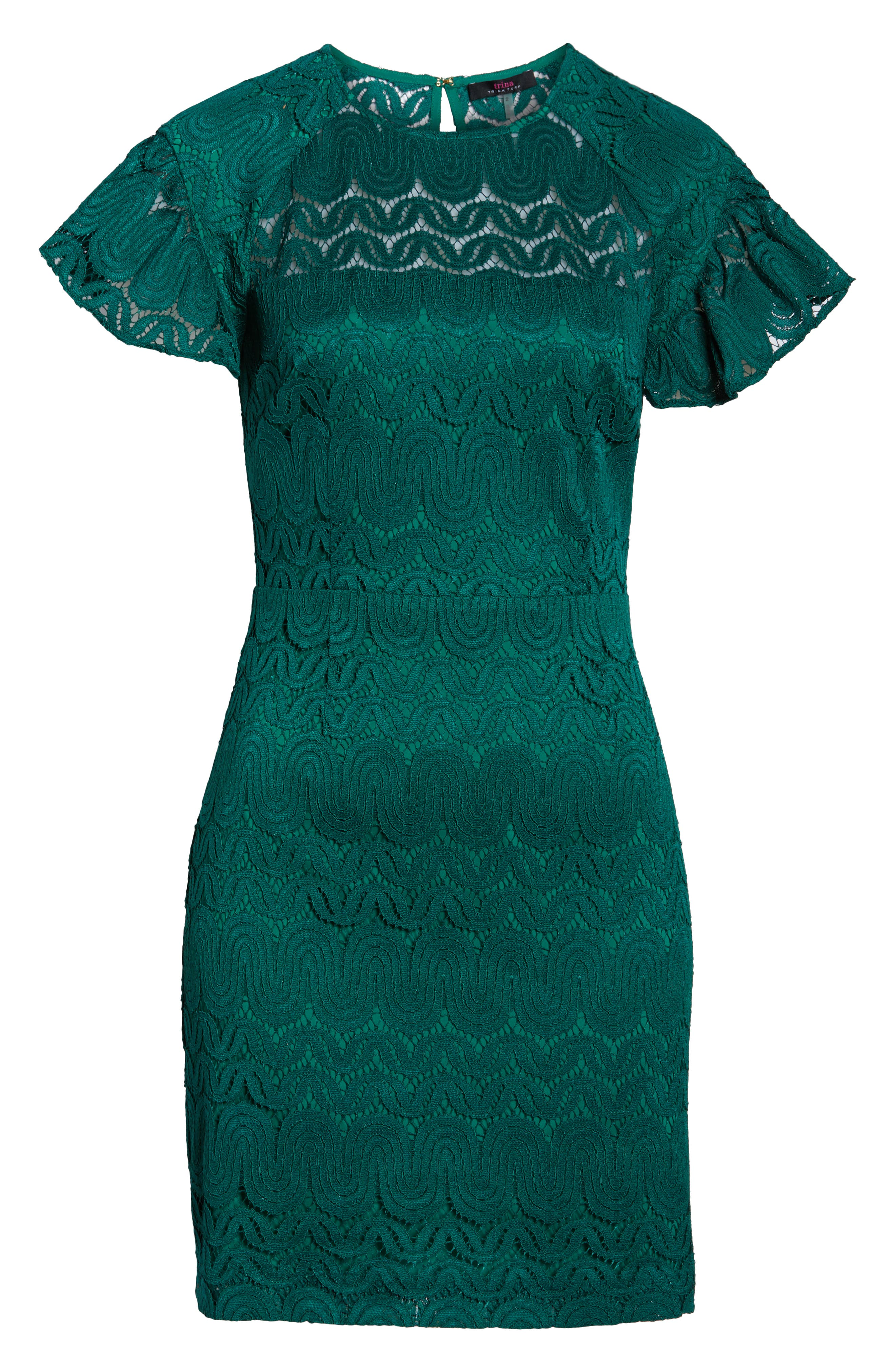 Mai Tai Lace Dress,                             Alternate thumbnail 6, color,                             EMERALD