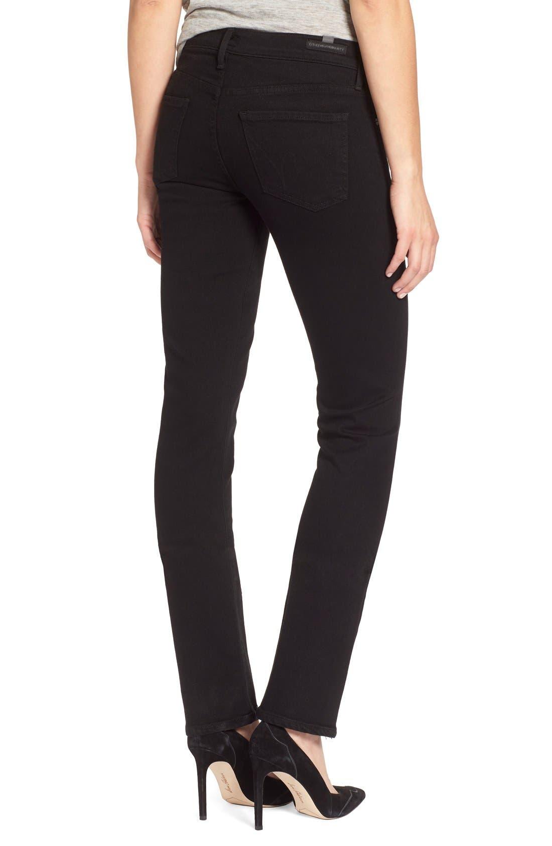 'Ava' Straight Leg Jeans,                             Alternate thumbnail 5, color,                             003