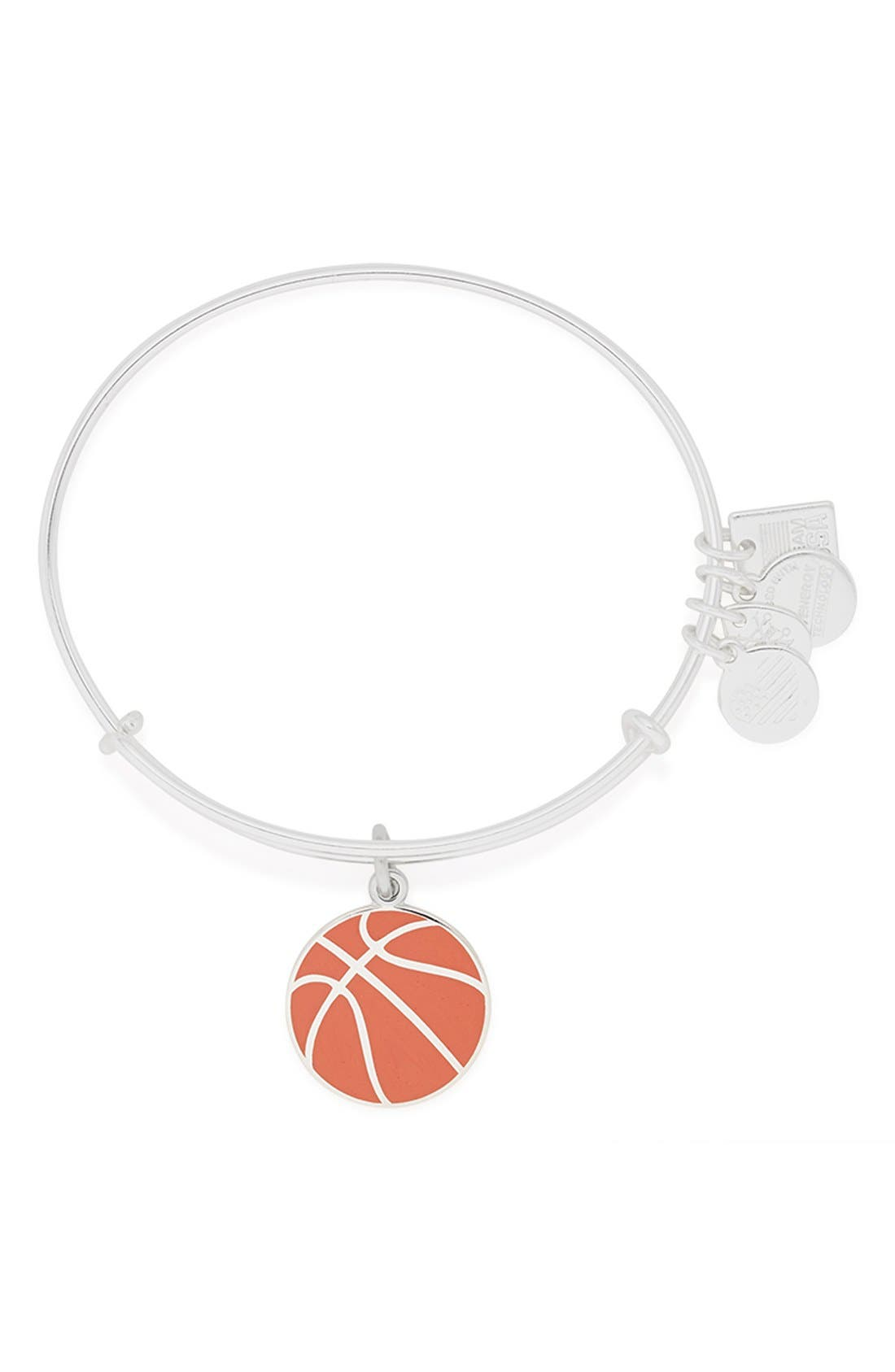'Team USA - Basketball' Expandable Wire Bangle, Main, color, 040