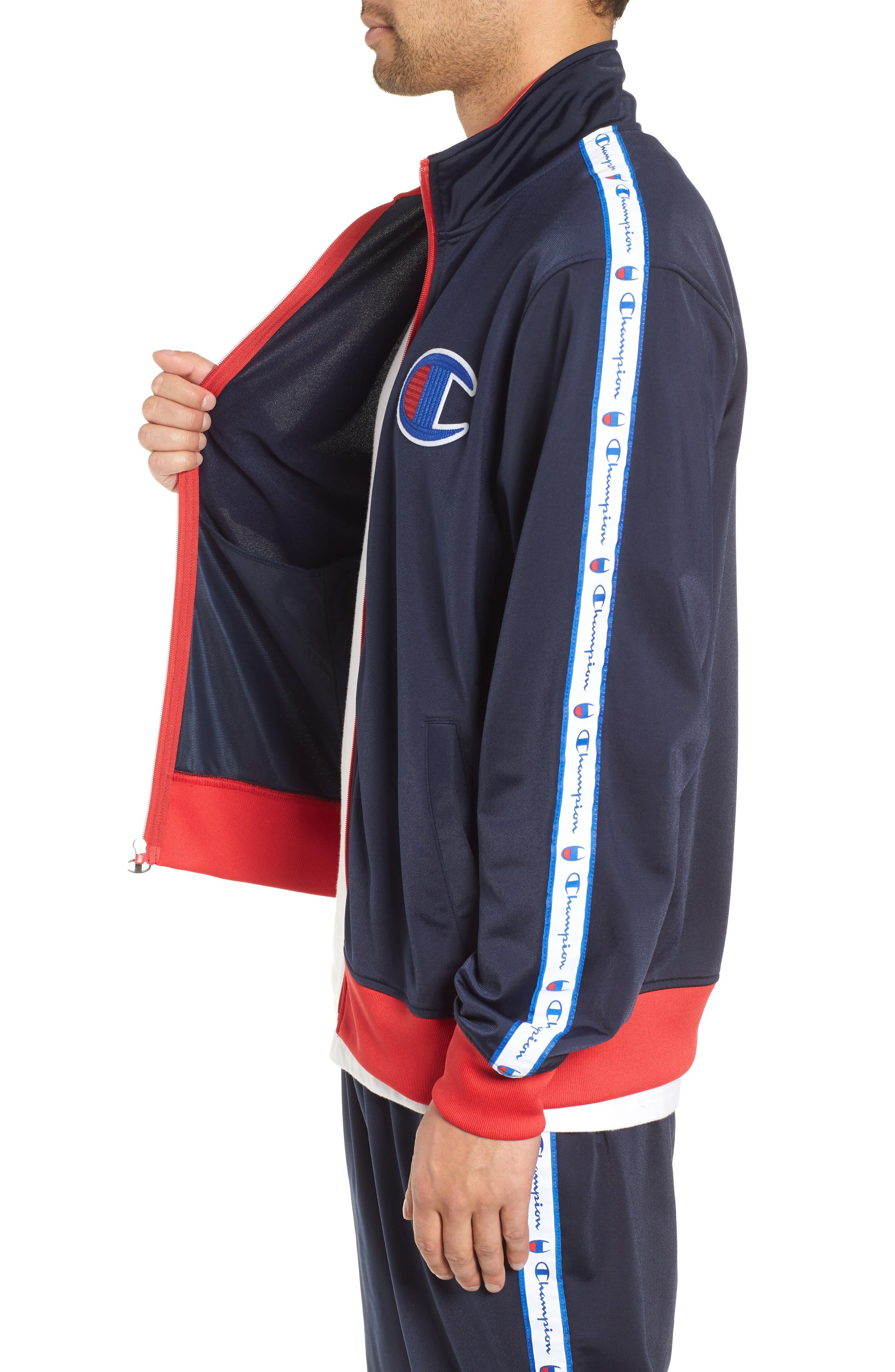 Track Jacket,                             Alternate thumbnail 3, color,                             NAVY/ SCARLET