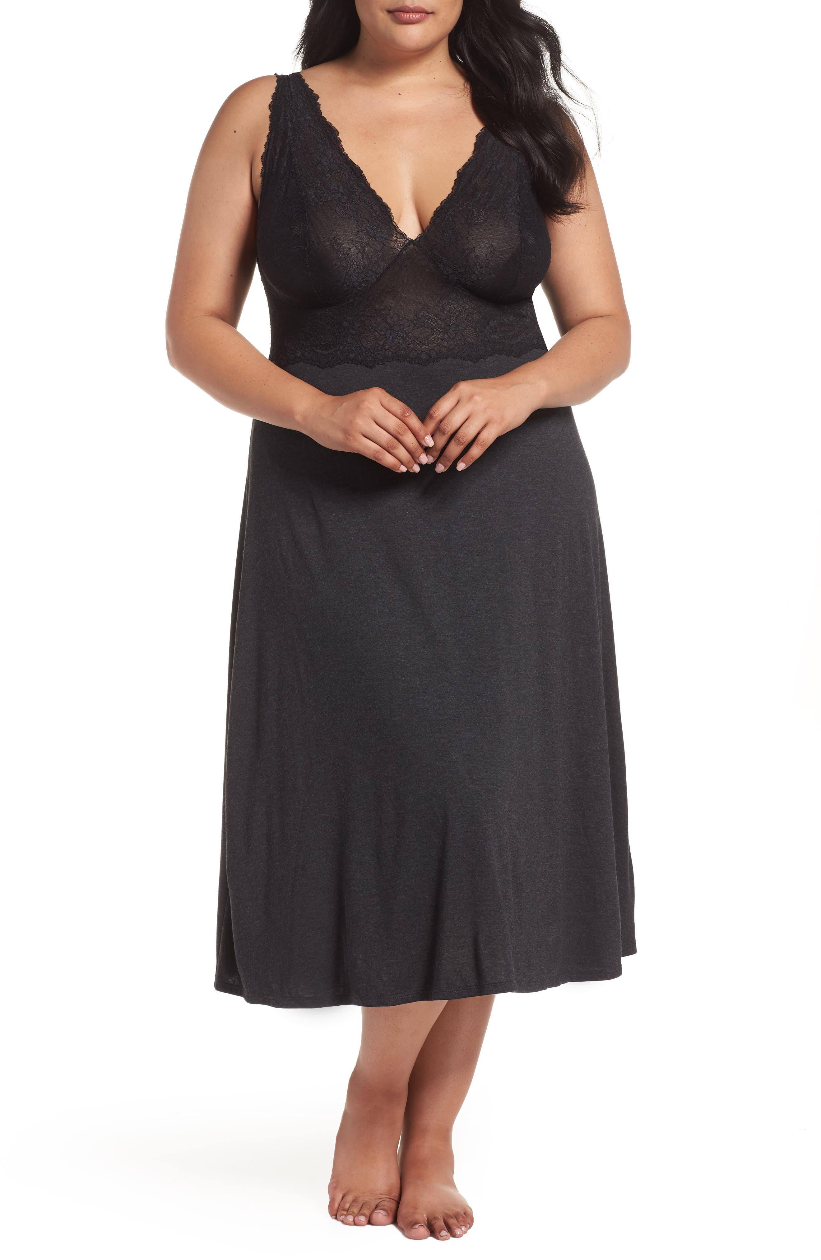 Plus Size Natori Luxe Shangri-La Nightgown