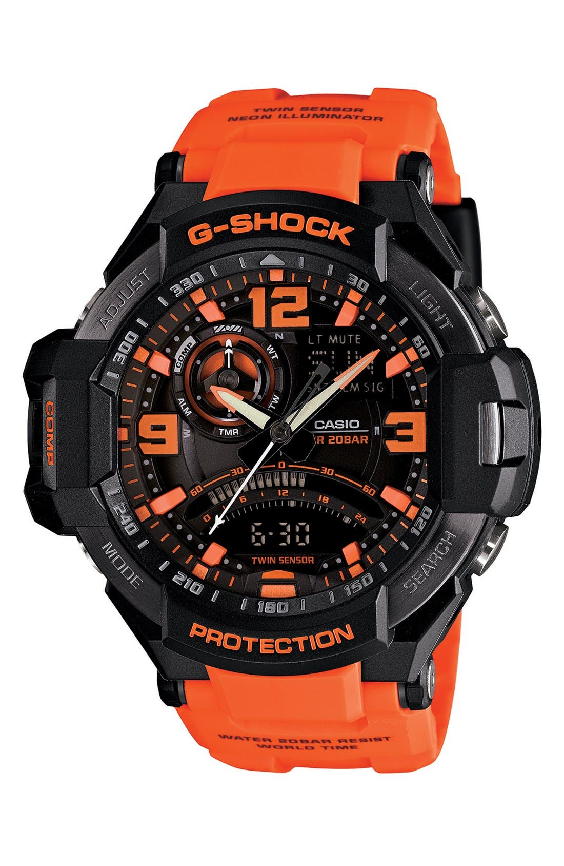G-Shock 'Aviation' Ana-Digi Watch, 52mm,                             Main thumbnail 3, color,