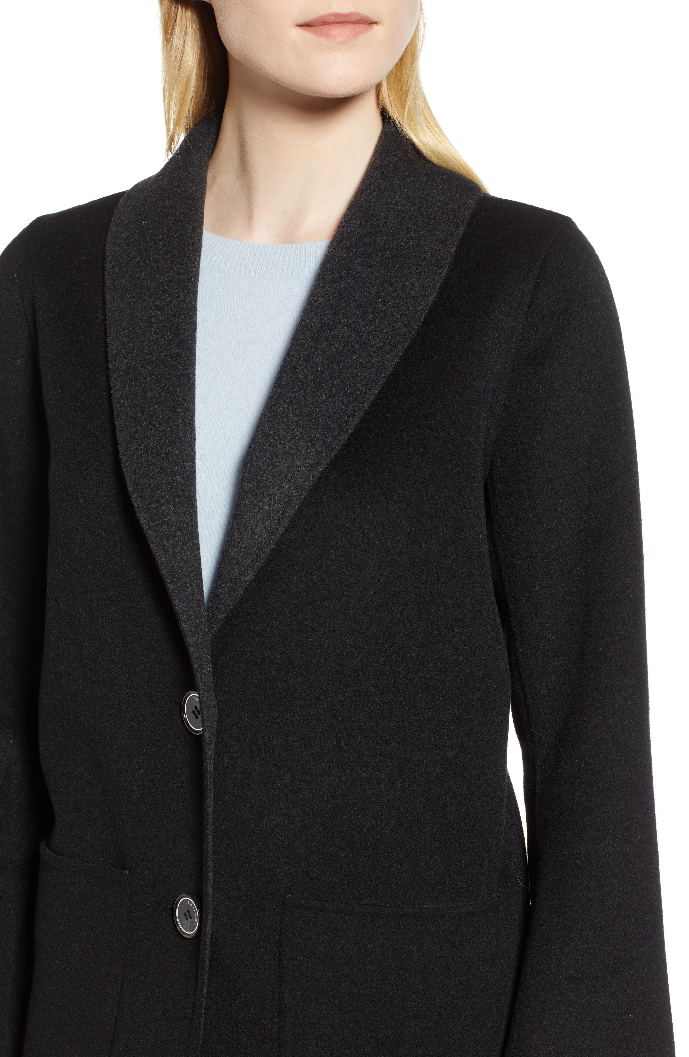 Jenn Double Face Wool Blend Reversible Coat,                             Alternate thumbnail 4, color,                             016