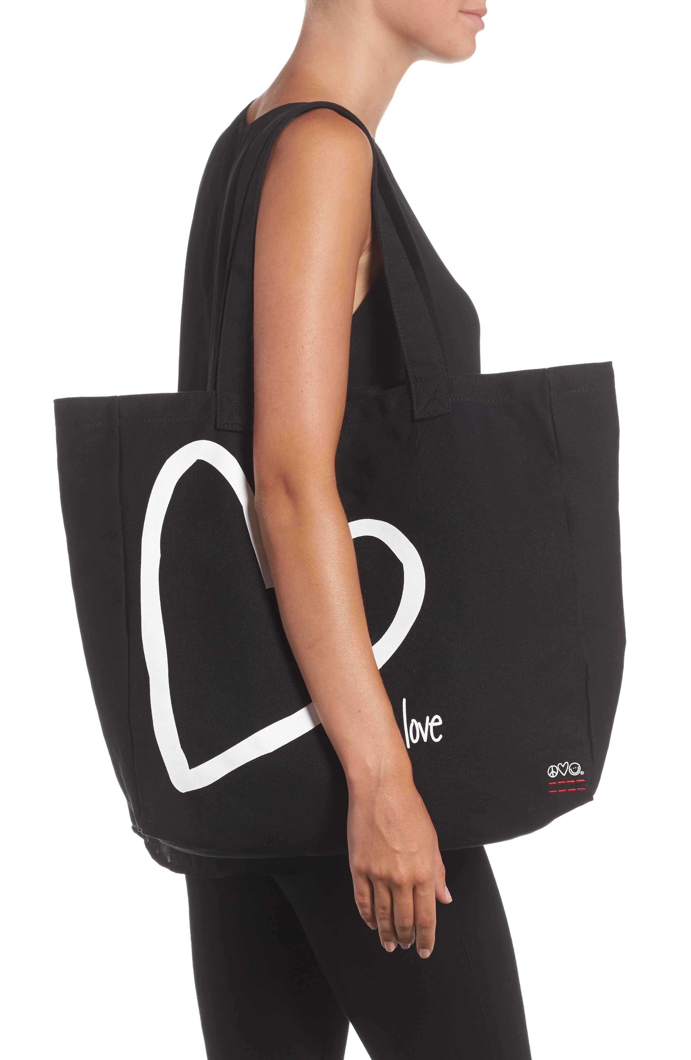 Oversized Canvas Tote,                             Alternate thumbnail 5, color,