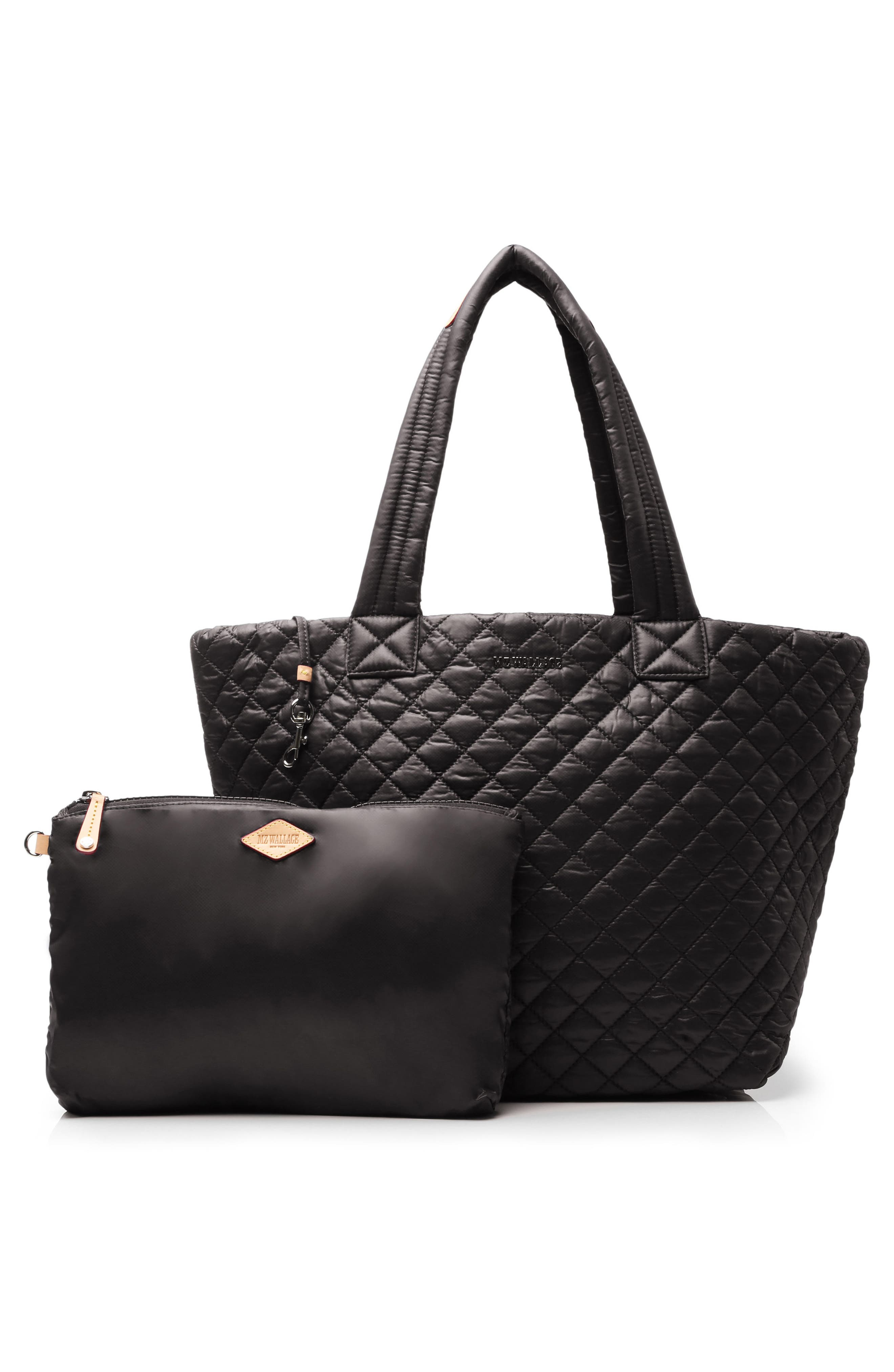 Medium Metro Tote,                             Alternate thumbnail 3, color,                             BLACK