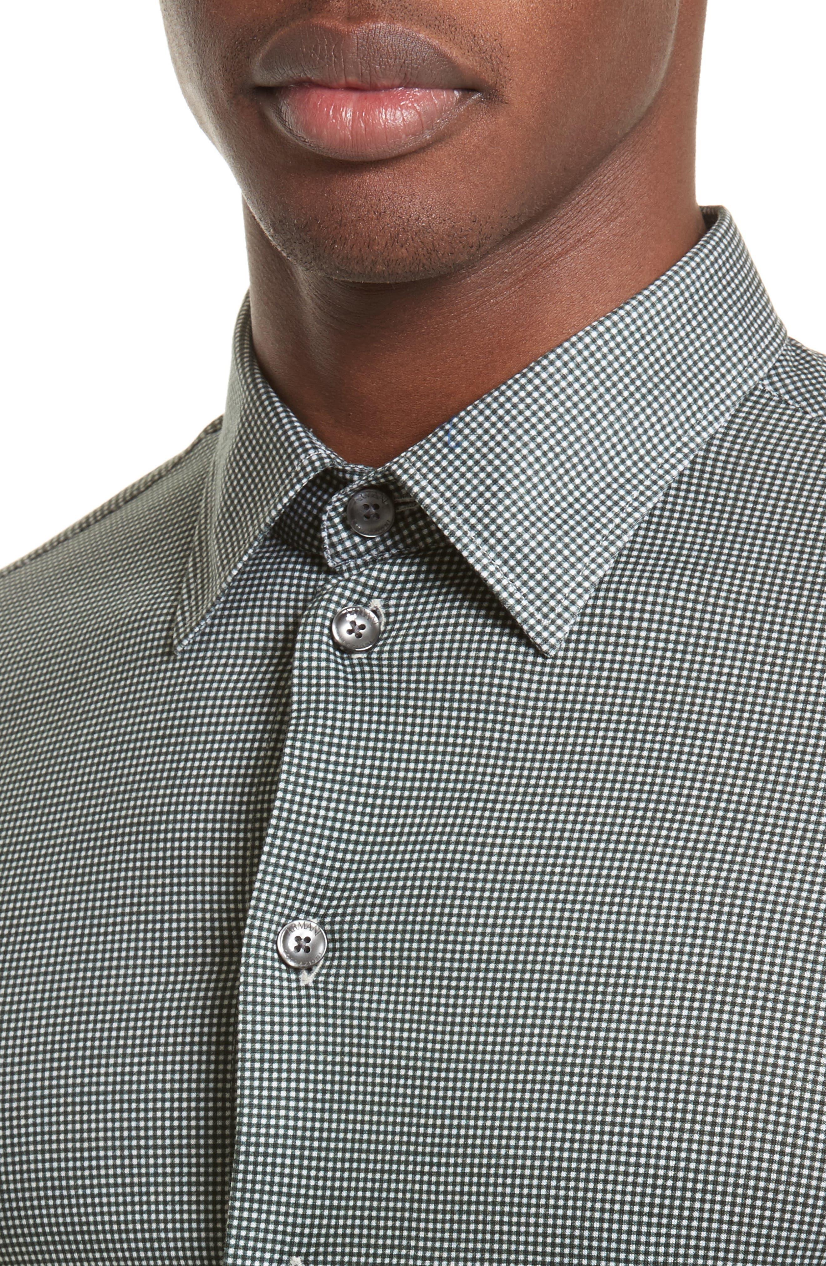 Gingham Sport Shirt,                             Alternate thumbnail 4, color,                             389