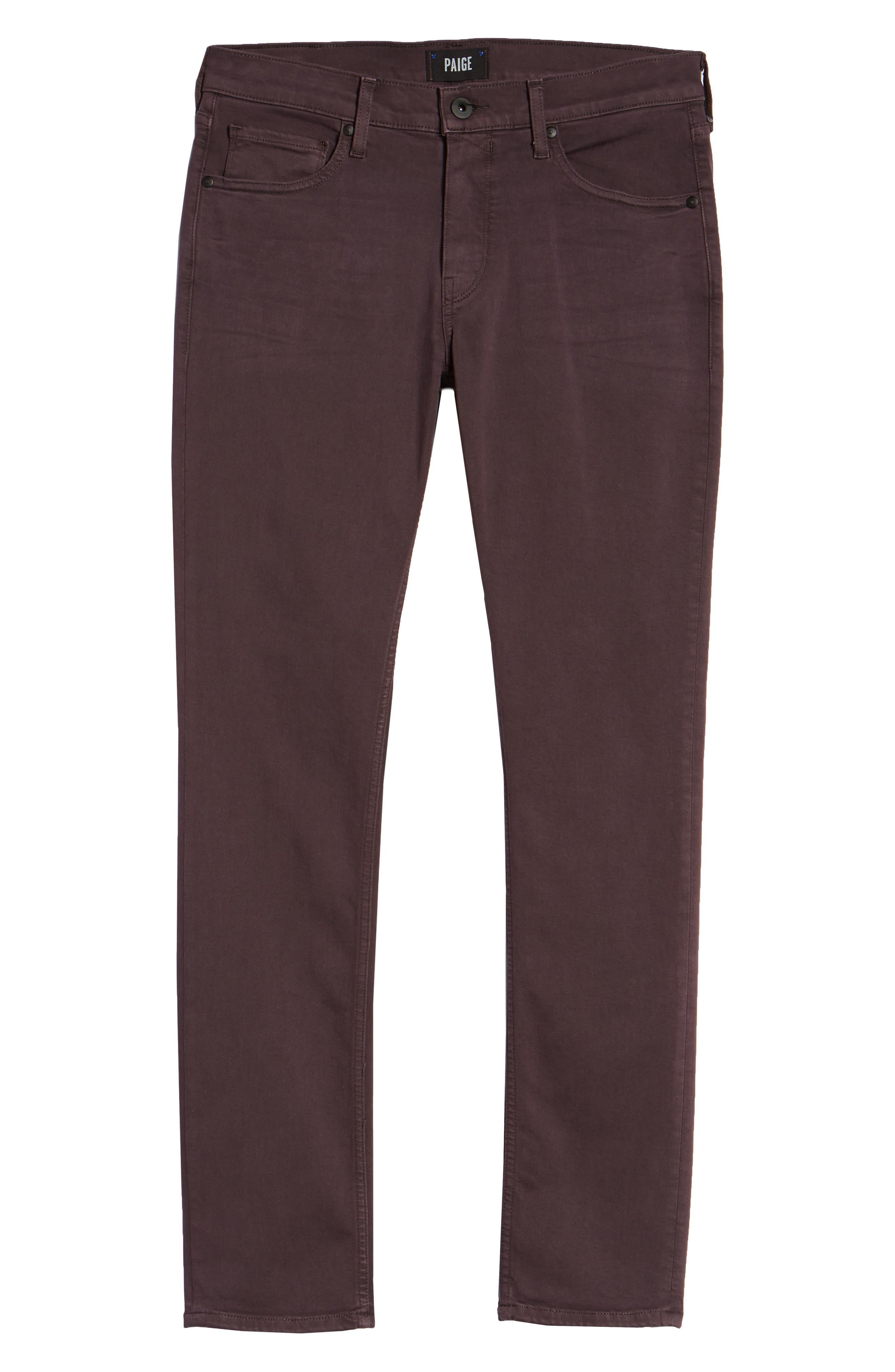 Transcend - Lennox Slim Fit Jeans,                             Alternate thumbnail 6, color,                             VINTAGE PLUM WINE
